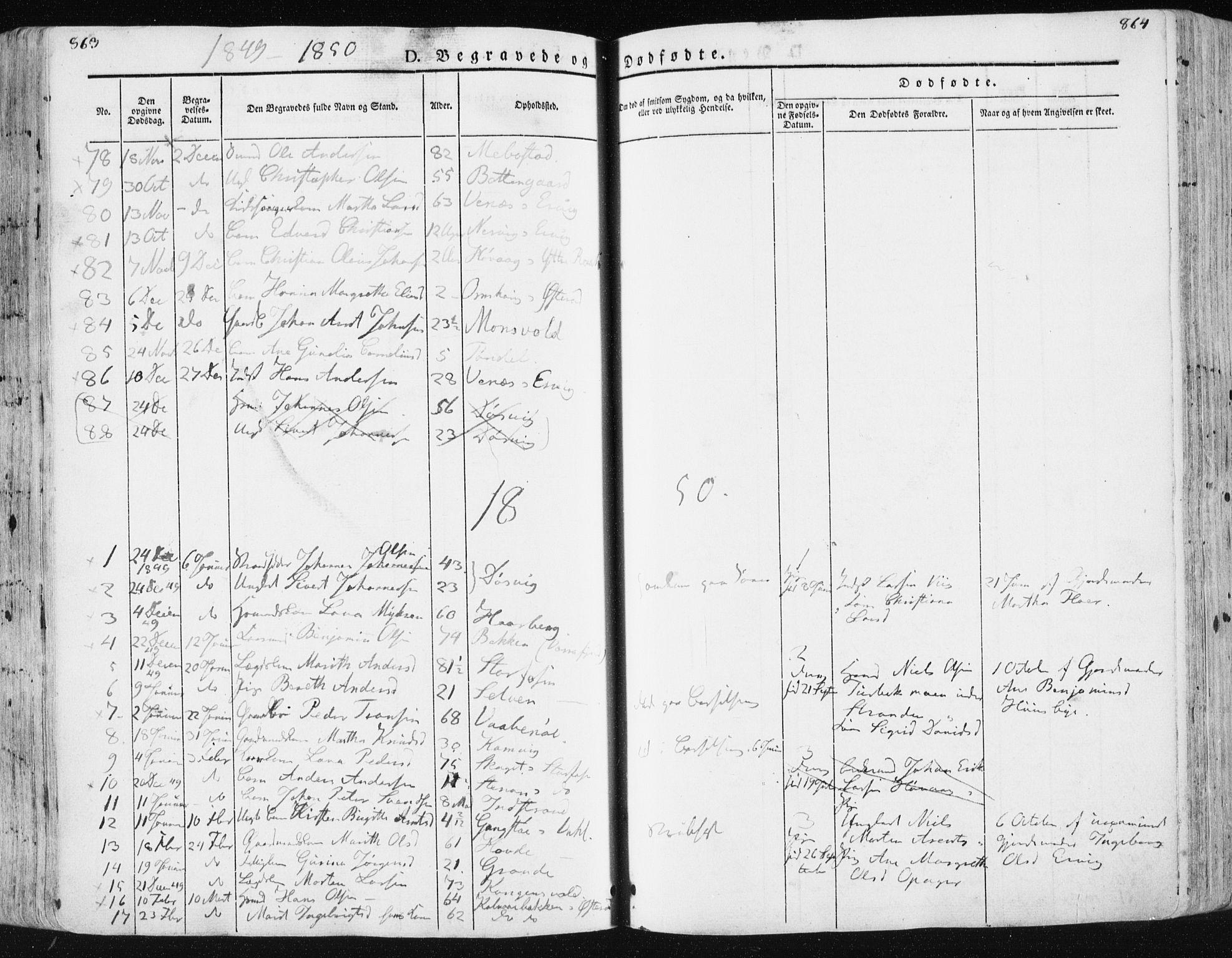 SAT, Ministerialprotokoller, klokkerbøker og fødselsregistre - Sør-Trøndelag, 659/L0736: Ministerialbok nr. 659A06, 1842-1856, s. 863-864