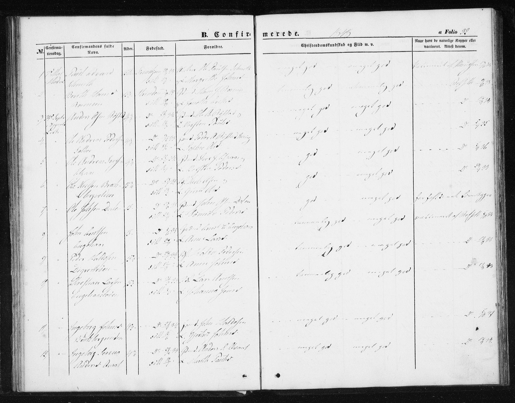 SAT, Ministerialprotokoller, klokkerbøker og fødselsregistre - Sør-Trøndelag, 608/L0332: Ministerialbok nr. 608A01, 1848-1861, s. 32
