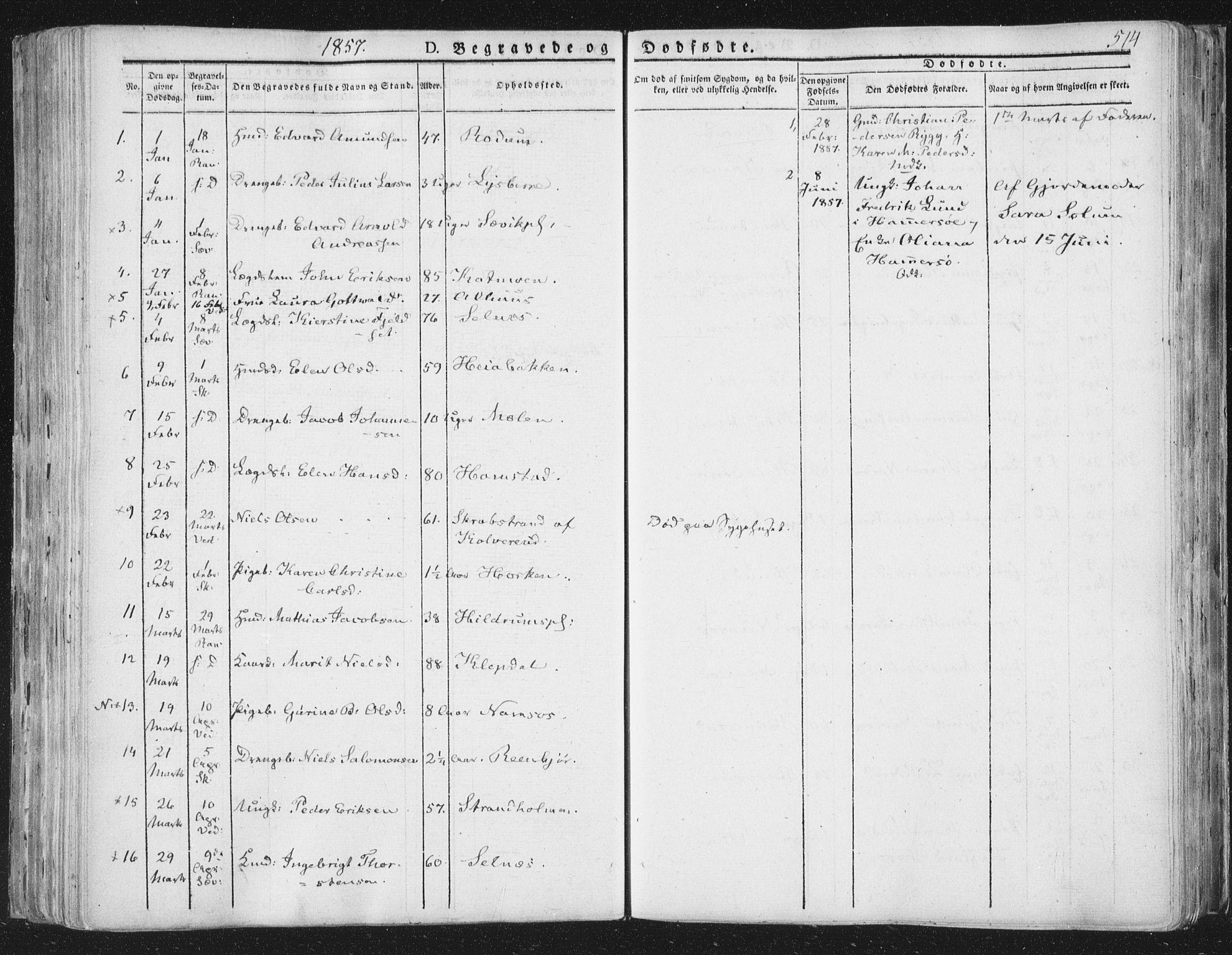SAT, Ministerialprotokoller, klokkerbøker og fødselsregistre - Nord-Trøndelag, 764/L0552: Ministerialbok nr. 764A07b, 1824-1865, s. 514