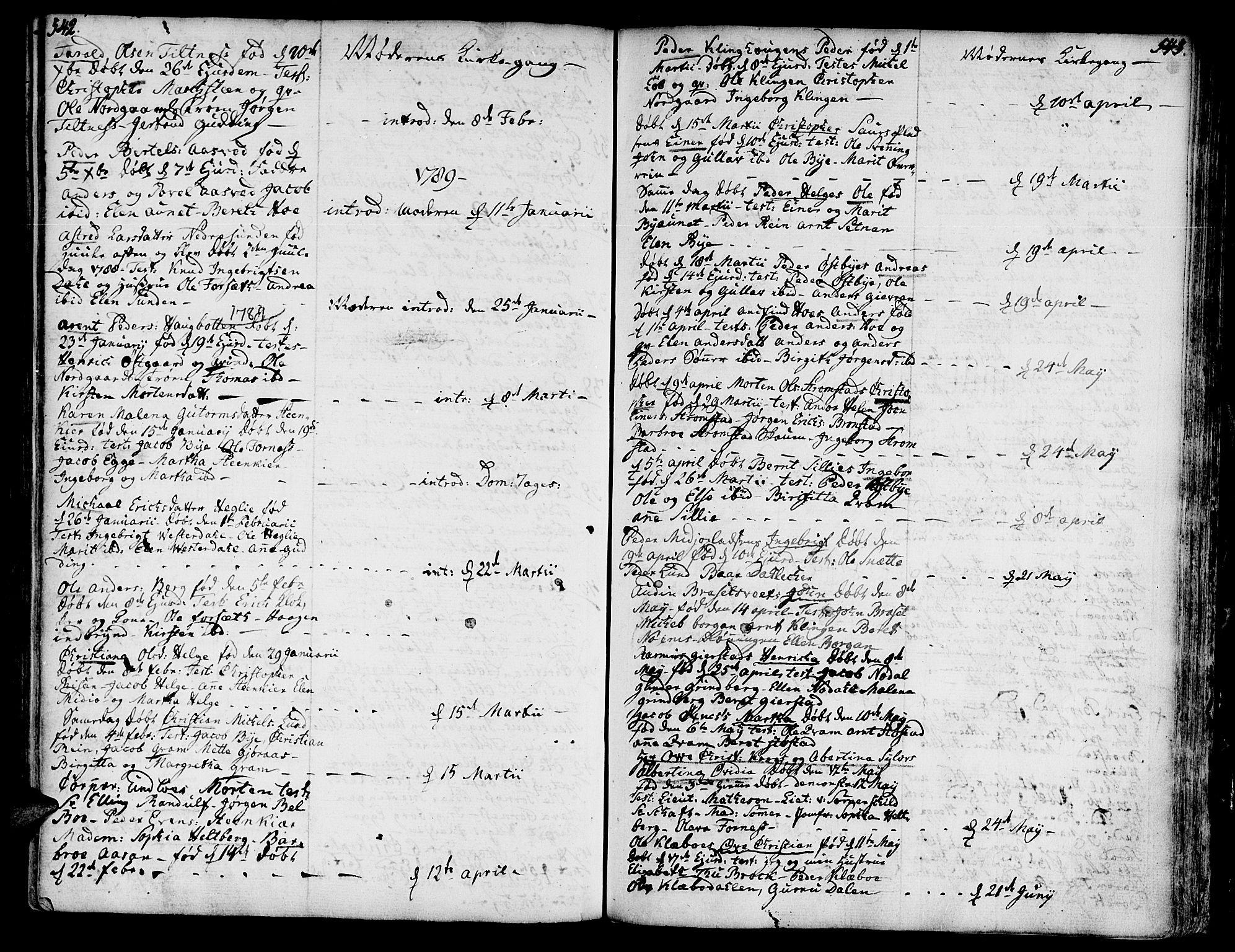 SAT, Ministerialprotokoller, klokkerbøker og fødselsregistre - Nord-Trøndelag, 746/L0440: Ministerialbok nr. 746A02, 1760-1815, s. 542-543