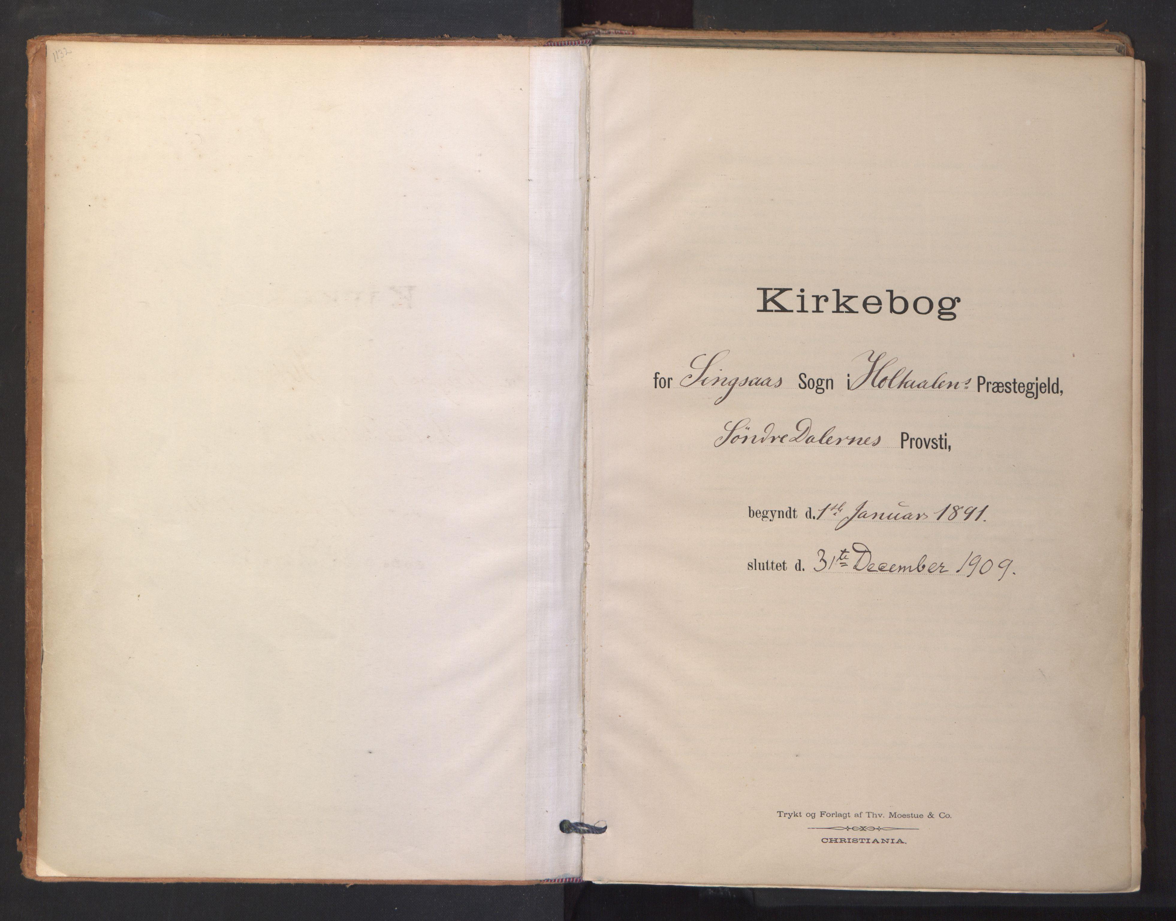 SAT, Ministerialprotokoller, klokkerbøker og fødselsregistre - Sør-Trøndelag, 688/L1025: Ministerialbok nr. 688A02, 1891-1909