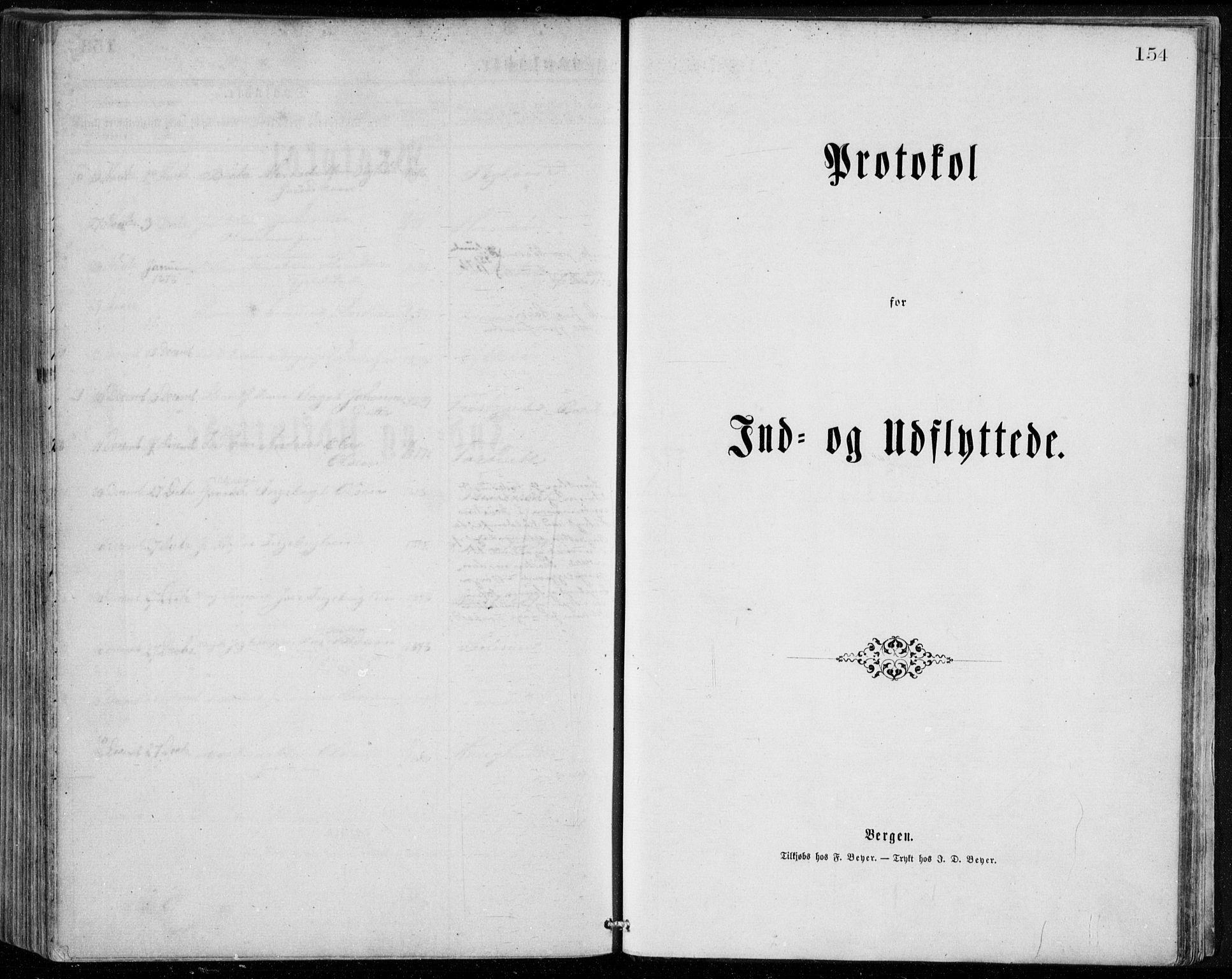 SAB, Herdla Sokneprestembete, H/Haa: Ministerialbok nr. A 2, 1869-1877, s. 154