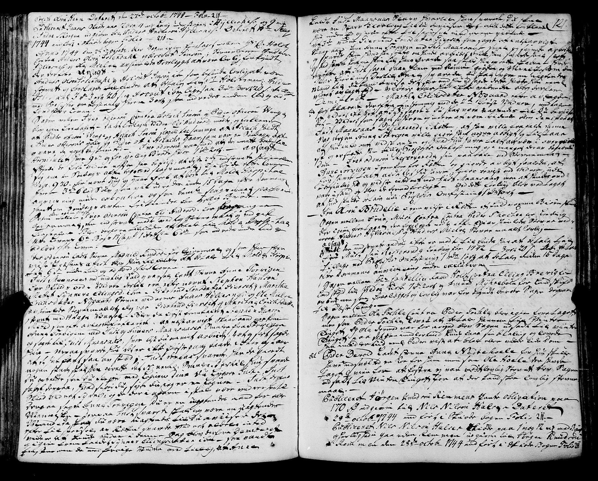 SAT, Romsdal sorenskriveri, 1/1A/L0012: Tingbok, 1740-1749, s. 120b-121a