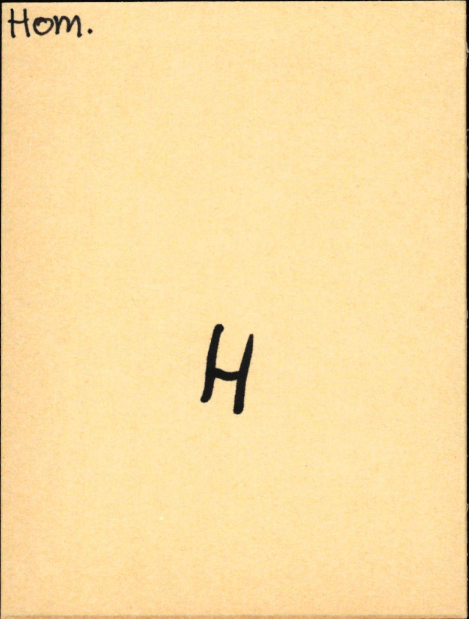 SAB, Statens vegvesen, Hordaland vegkontor, Ha/L0024: R-eierkort H, 1920-1971, s. 1