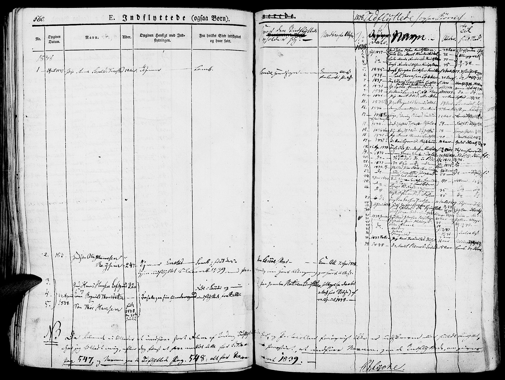 SAH, Lesja prestekontor, Ministerialbok nr. 5, 1830-1842, s. 560