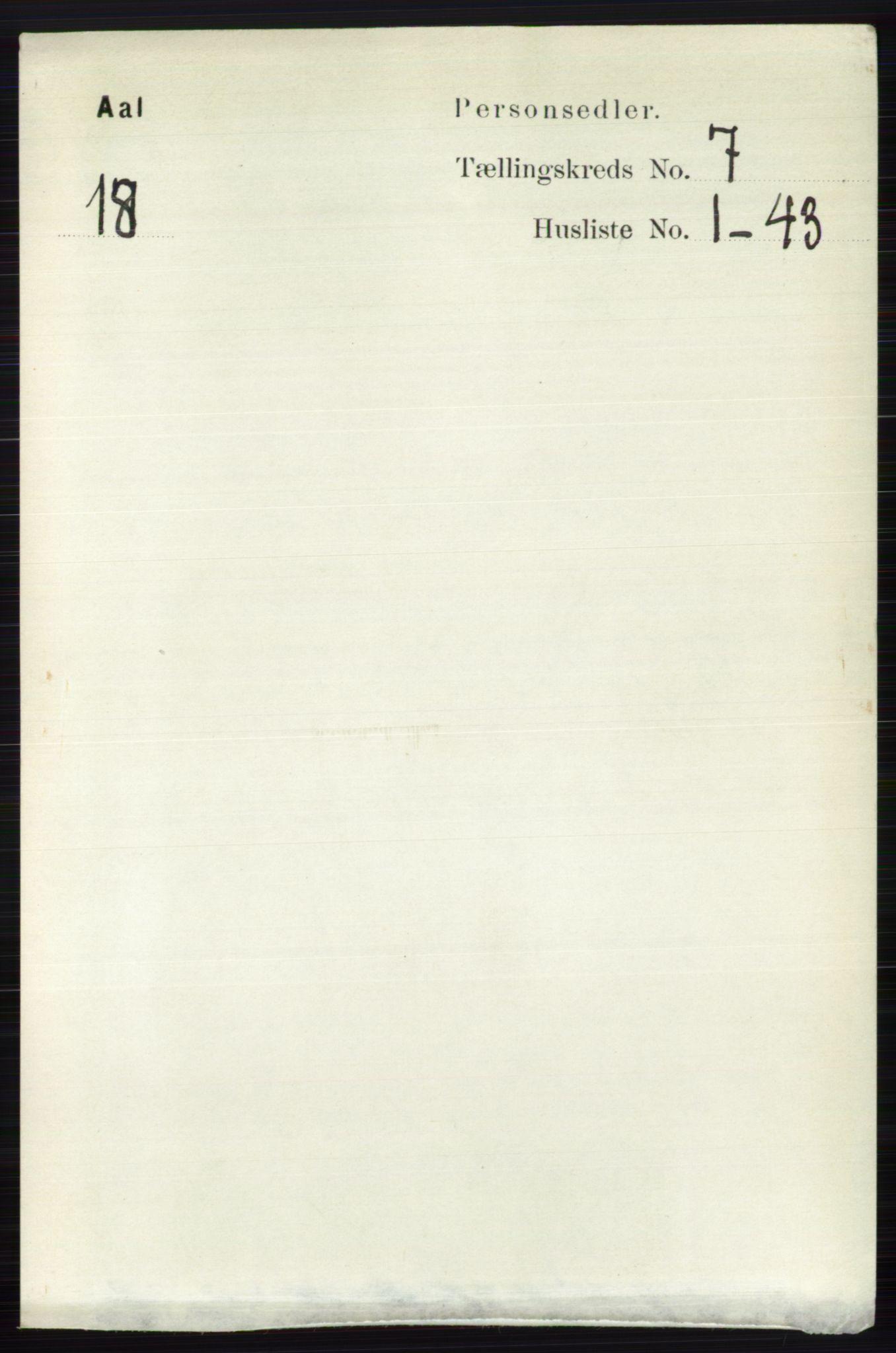 RA, Folketelling 1891 for 0619 Ål herred, 1891, s. 1826