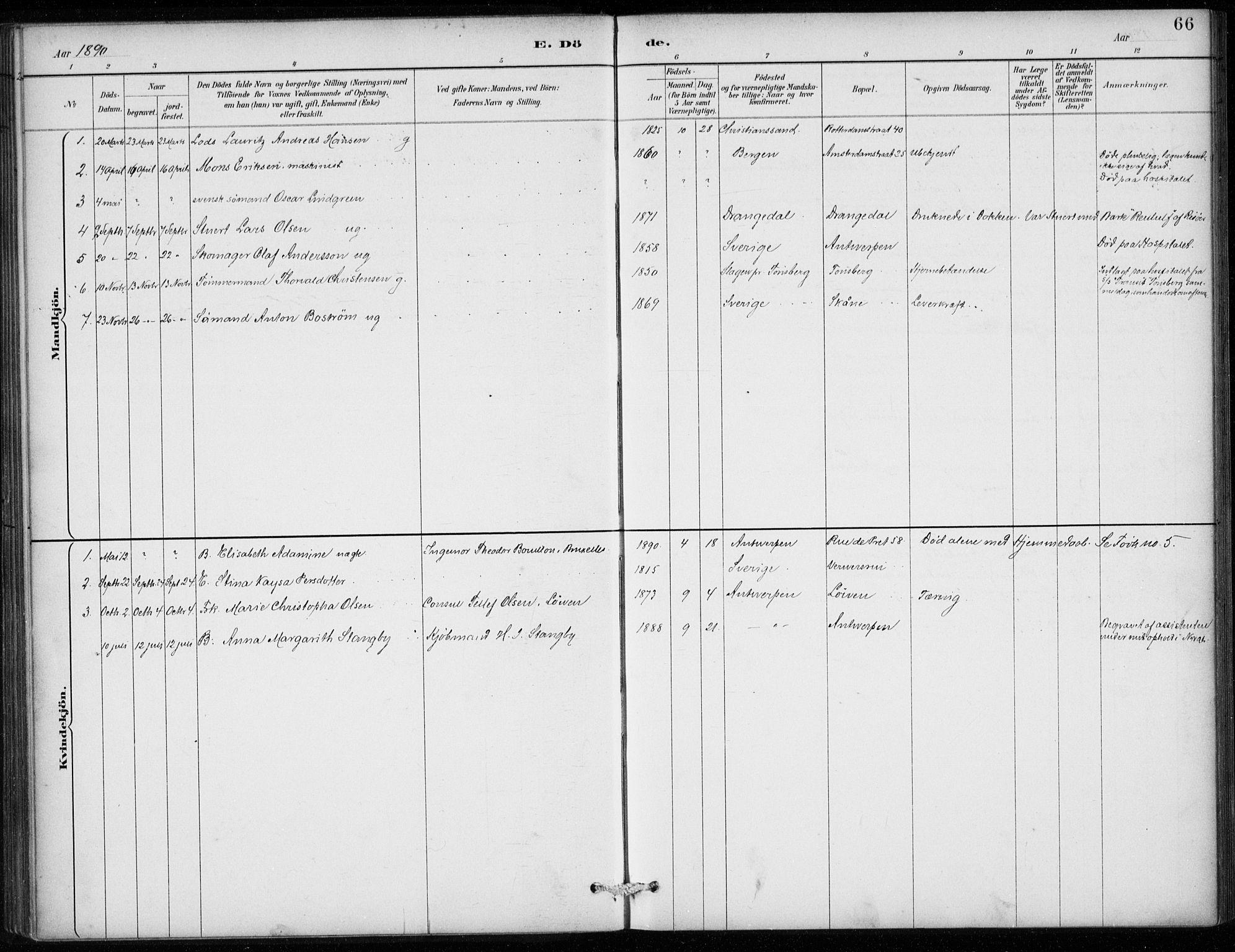 SAB, Den Norske Sjømannsmisjon i utlandet*, Ministerialbok nr. A 2, 1887-1913, s. 66
