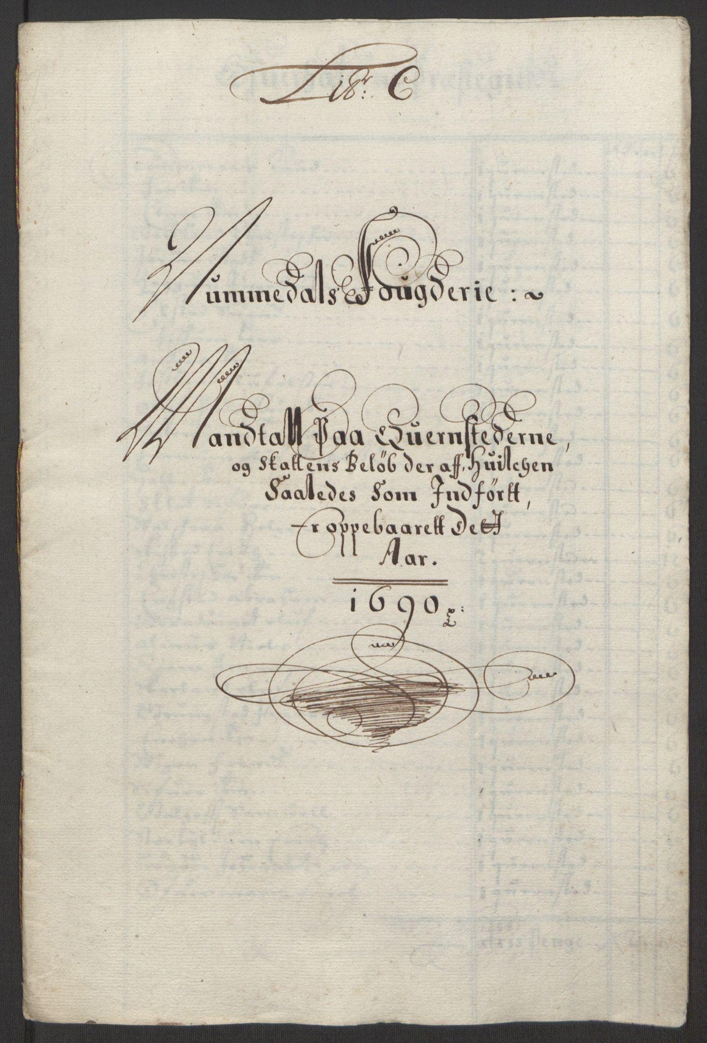 RA, Rentekammeret inntil 1814, Reviderte regnskaper, Fogderegnskap, R64/L4423: Fogderegnskap Namdal, 1690-1691, s. 15