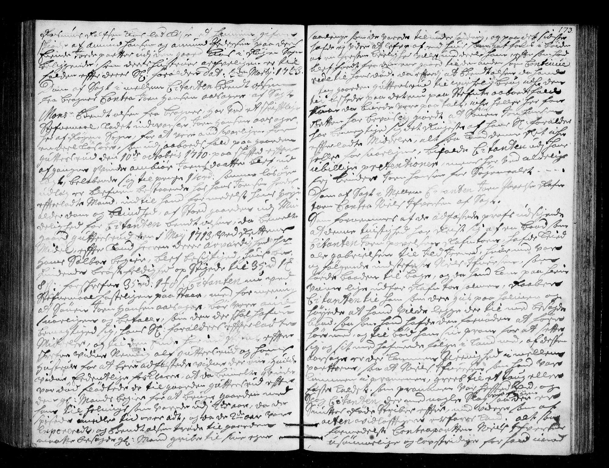 SAKO, Lier, Røyken og Hurum sorenskriveri, F/Fa/L0045: Tingbok, 1721-1724, s. 173