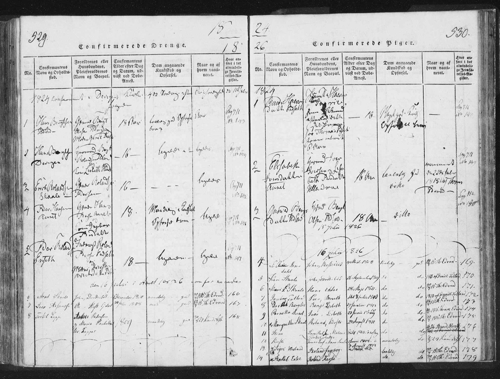 SAT, Ministerialprotokoller, klokkerbøker og fødselsregistre - Nord-Trøndelag, 755/L0491: Ministerialbok nr. 755A01 /2, 1817-1864, s. 529-530