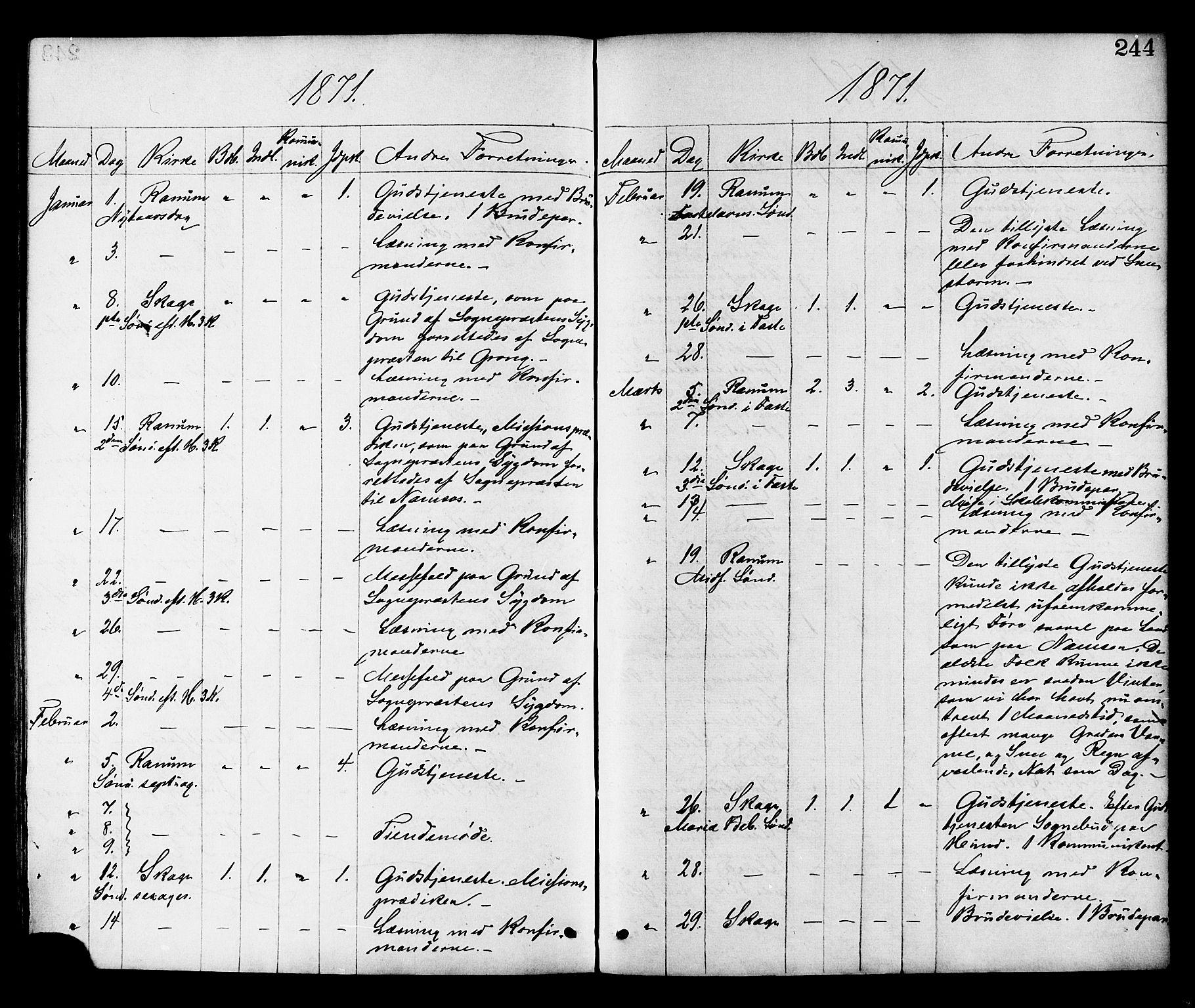 SAT, Ministerialprotokoller, klokkerbøker og fødselsregistre - Nord-Trøndelag, 764/L0554: Ministerialbok nr. 764A09, 1867-1880, s. 244