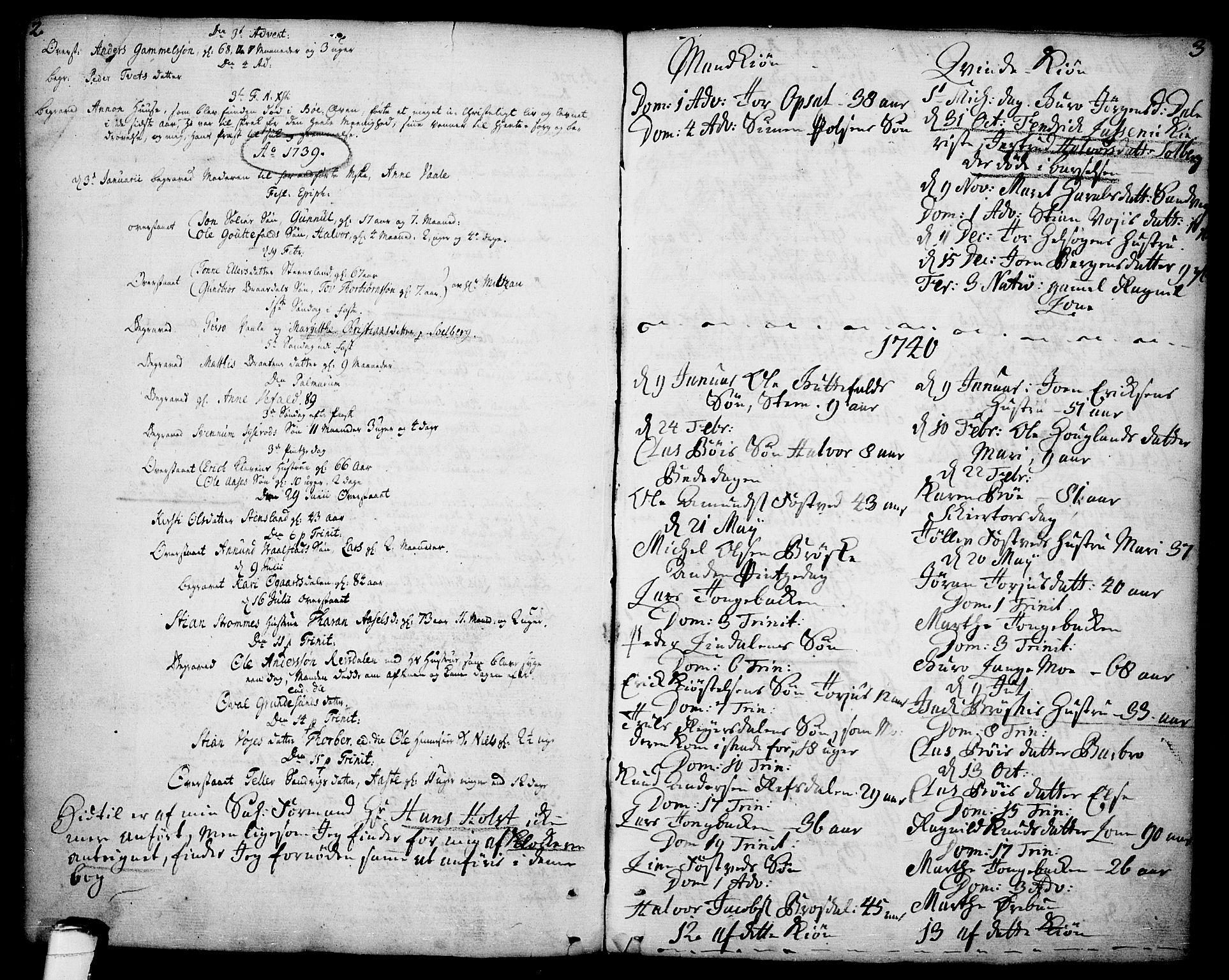 SAKO, Drangedal kirkebøker, F/Fa/L0001: Ministerialbok nr. 1, 1697-1767, s. 2-3