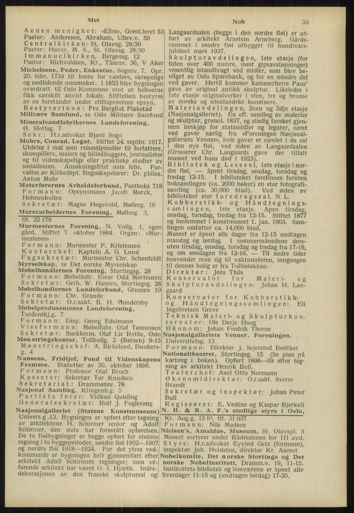RA, Oslo adressebok (publikasjon)*, 1939, s. 35