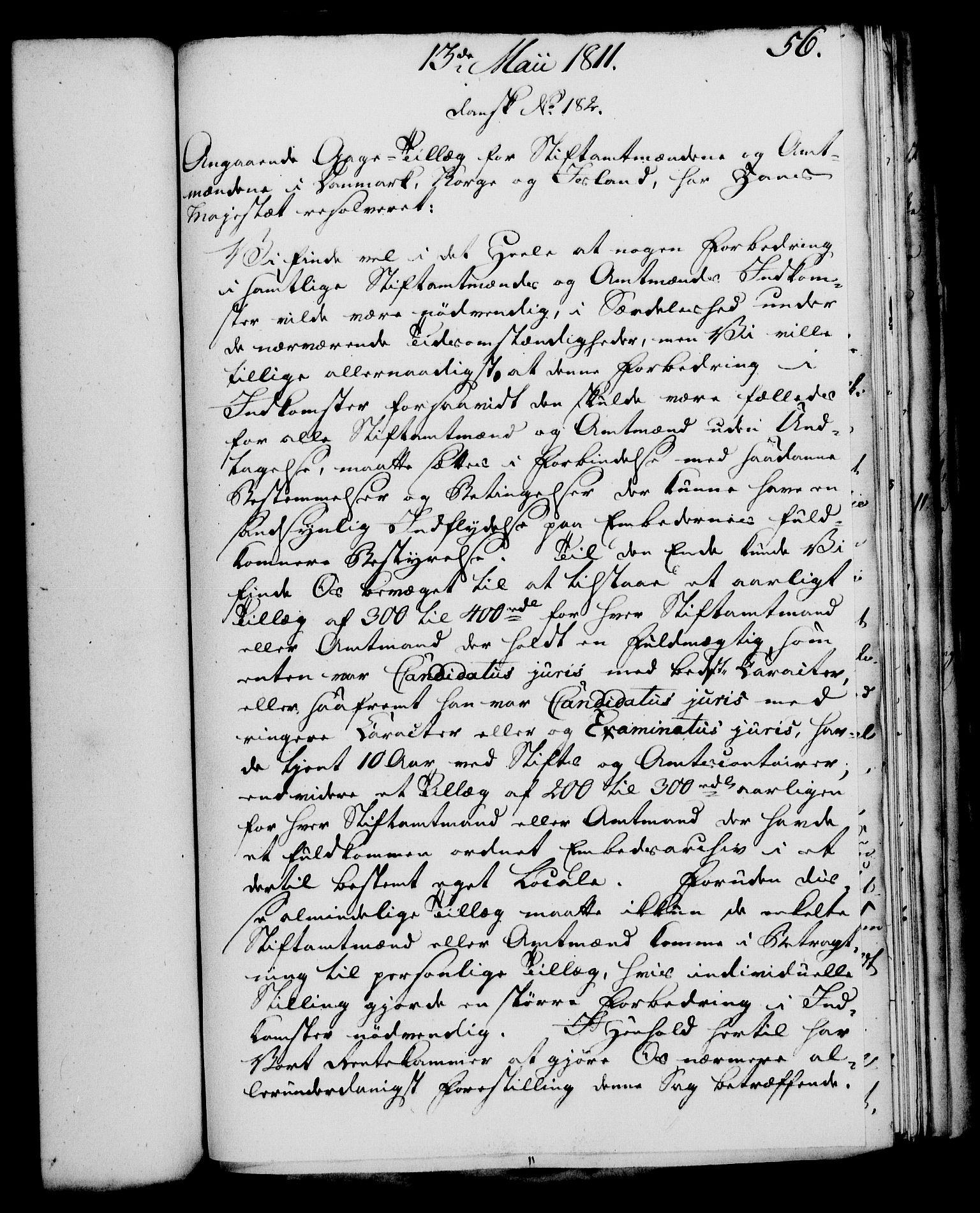 RA, Rentekammeret, Kammerkanselliet, G/Gf/Gfa/L0093: Norsk relasjons- og resolusjonsprotokoll (merket RK 52.93), 1811, s. 220