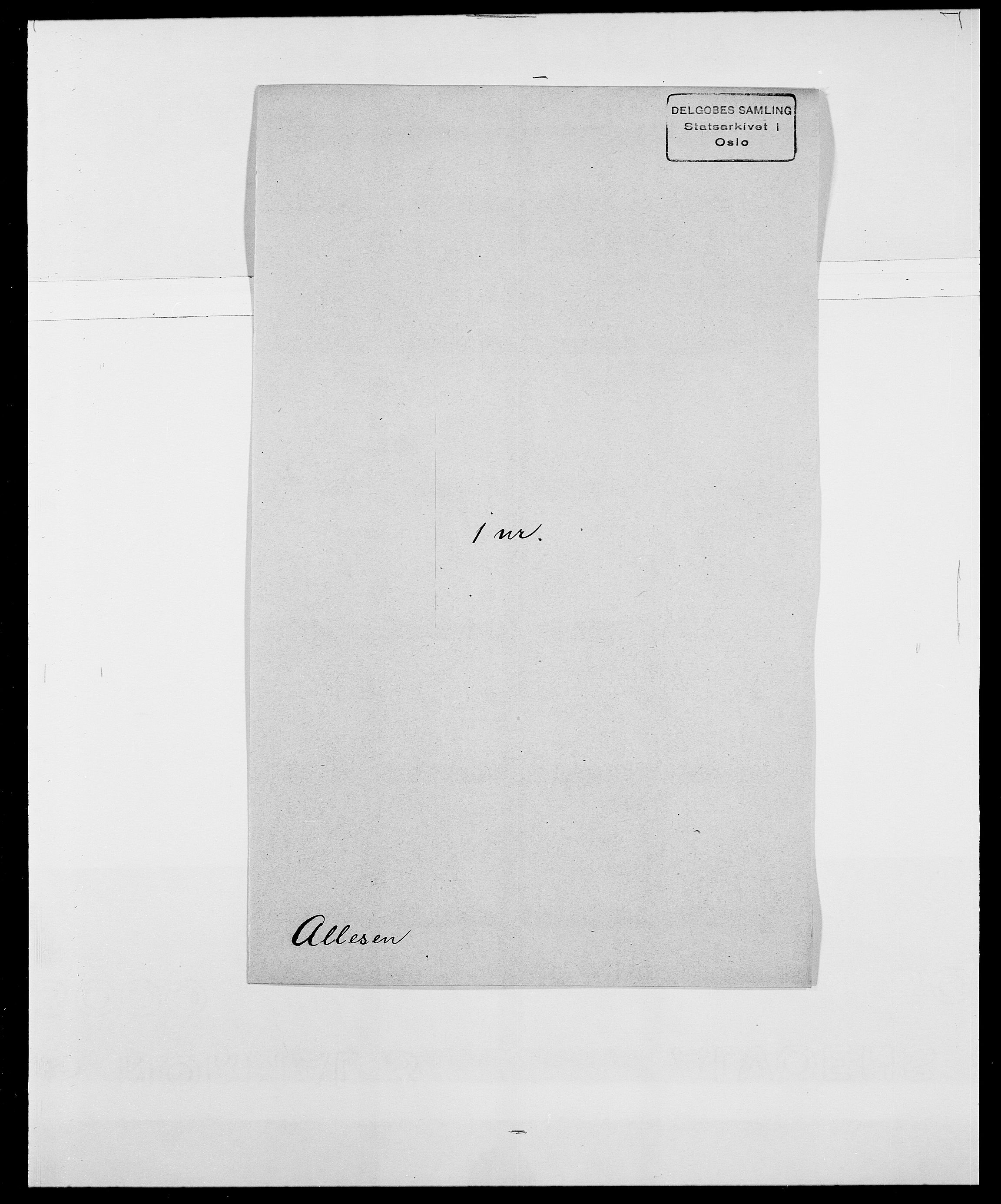 SAO, Delgobe, Charles Antoine - samling, D/Da/L0001: Aabye - Angerman, s. 425