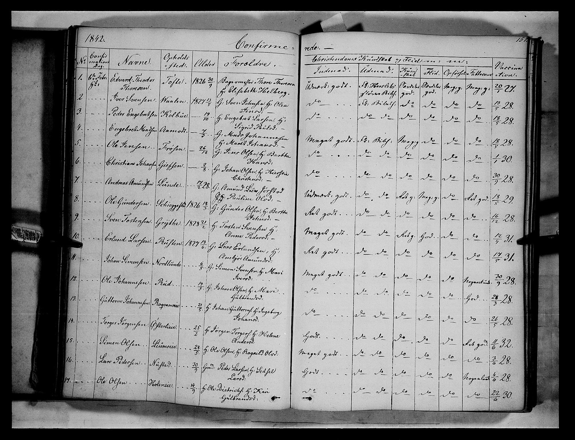 SAH, Gausdal prestekontor, Ministerialbok nr. 7, 1840-1850, s. 157a