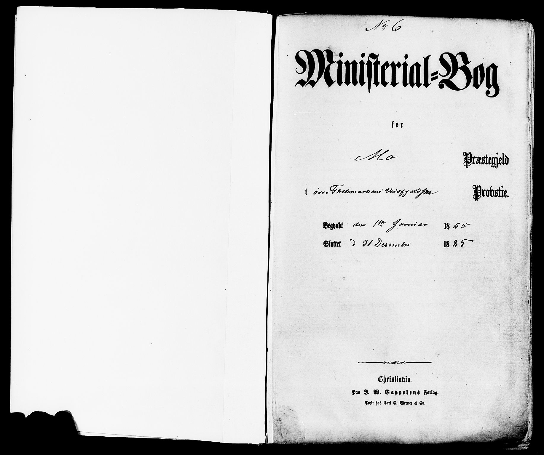 SAKO, Mo kirkebøker, F/Fa/L0006: Ministerialbok nr. I 6, 1865-1885