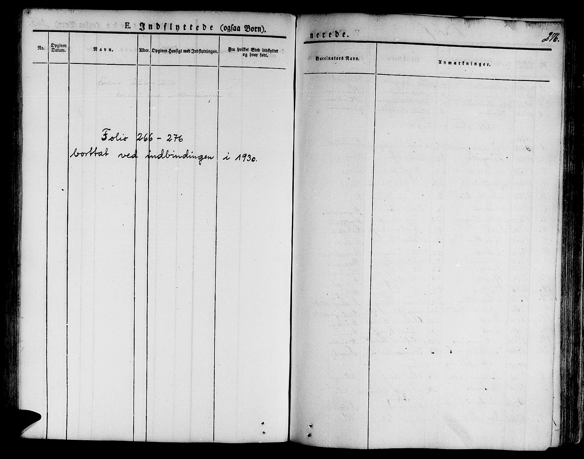 SAT, Ministerialprotokoller, klokkerbøker og fødselsregistre - Nord-Trøndelag, 746/L0445: Ministerialbok nr. 746A04, 1826-1846, s. 276