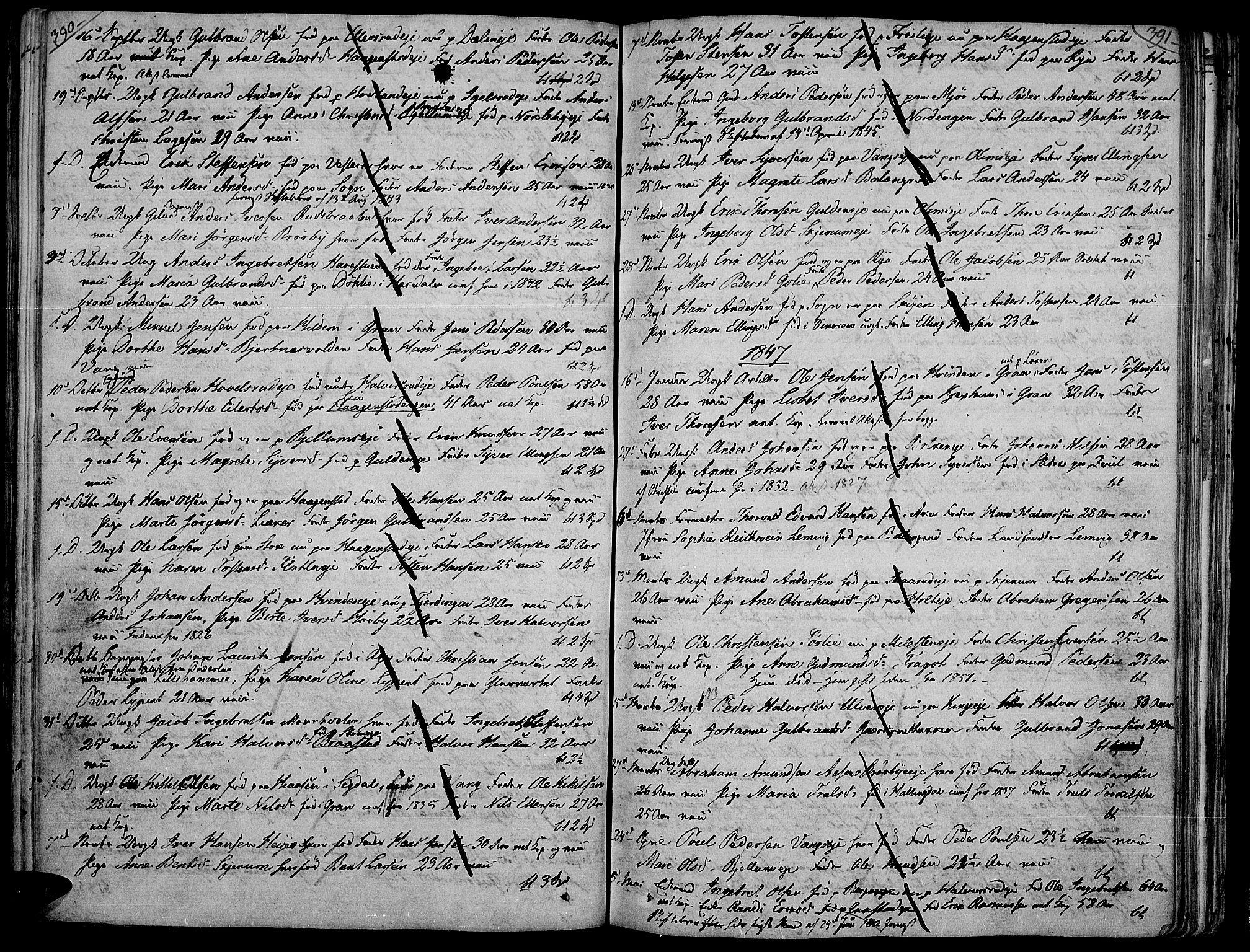 SAH, Jevnaker prestekontor, Ministerialbok nr. 4, 1800-1861, s. 390-391