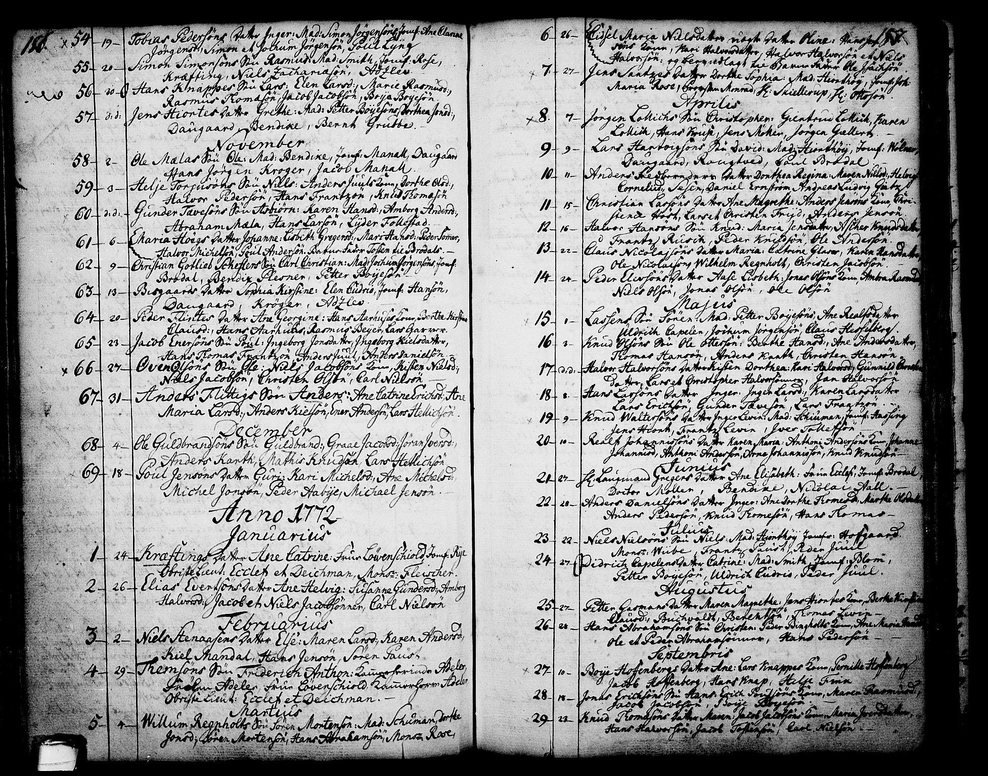 SAKO, Skien kirkebøker, F/Fa/L0003: Ministerialbok nr. 3, 1755-1791, s. 186-187