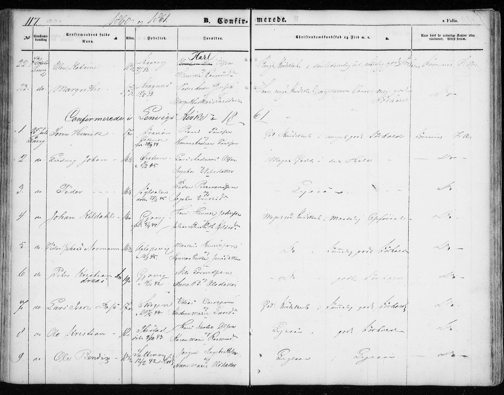 SATØ, Lenvik sokneprestembete, H/Ha: Ministerialbok nr. 7, 1855-1865, s. 117