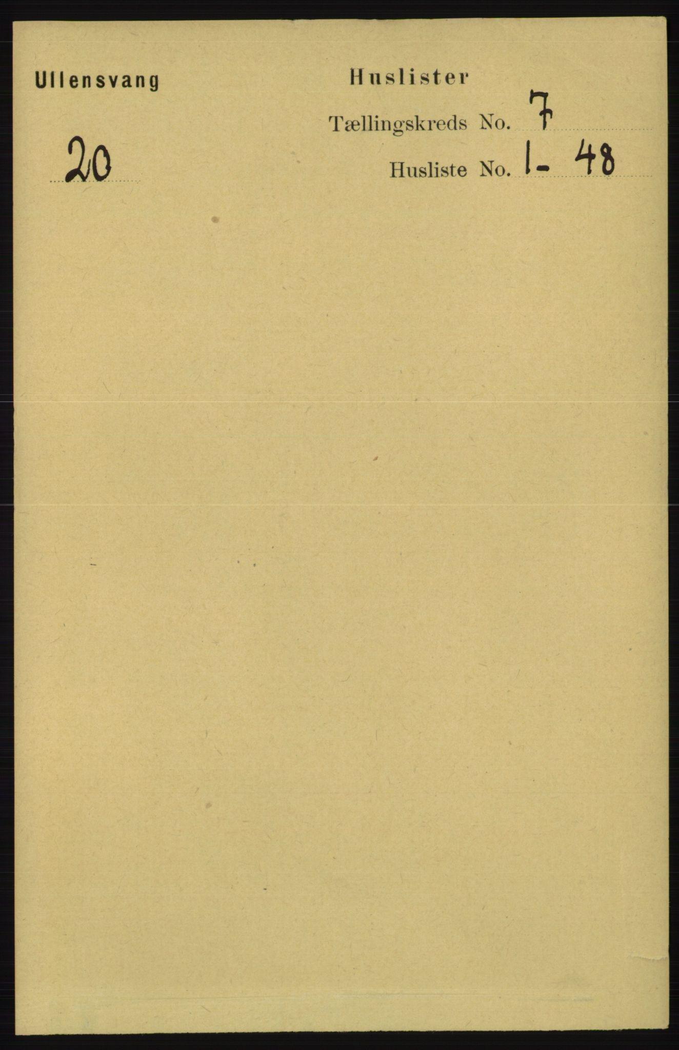 RA, Folketelling 1891 for 1230 Ullensvang herred, 1891, s. 2302