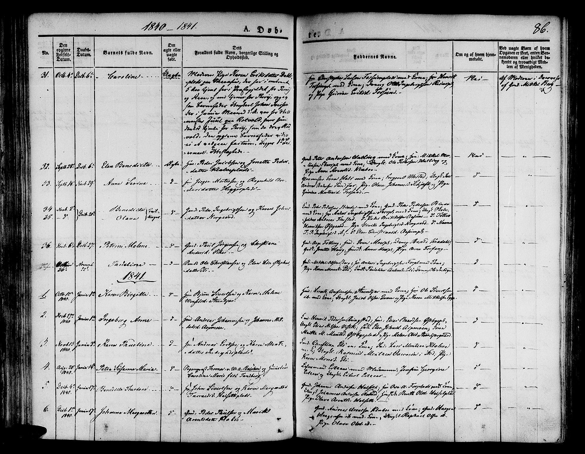 SAT, Ministerialprotokoller, klokkerbøker og fødselsregistre - Nord-Trøndelag, 746/L0445: Ministerialbok nr. 746A04, 1826-1846, s. 86