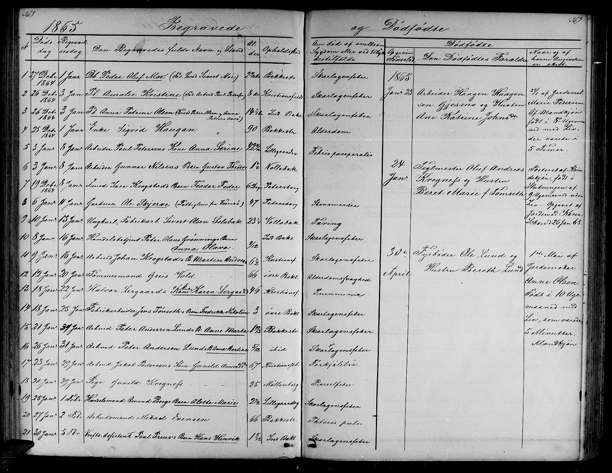 SAT, Ministerialprotokoller, klokkerbøker og fødselsregistre - Sør-Trøndelag, 604/L0219: Klokkerbok nr. 604C02, 1851-1869, s. 368-369