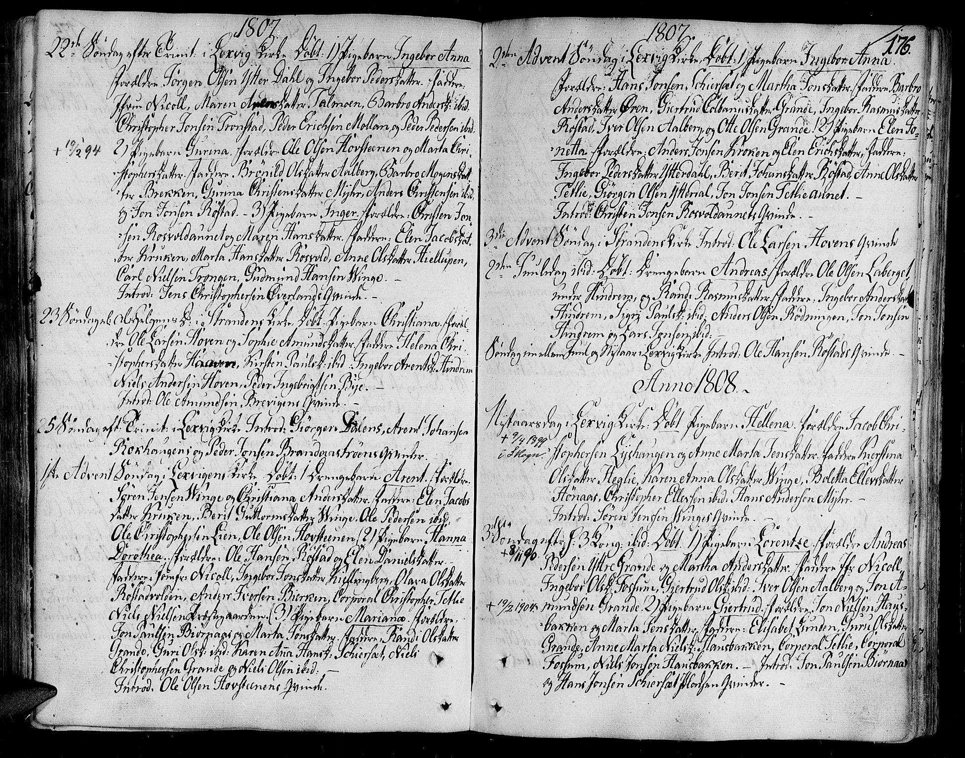SAT, Ministerialprotokoller, klokkerbøker og fødselsregistre - Nord-Trøndelag, 701/L0004: Ministerialbok nr. 701A04, 1783-1816, s. 176