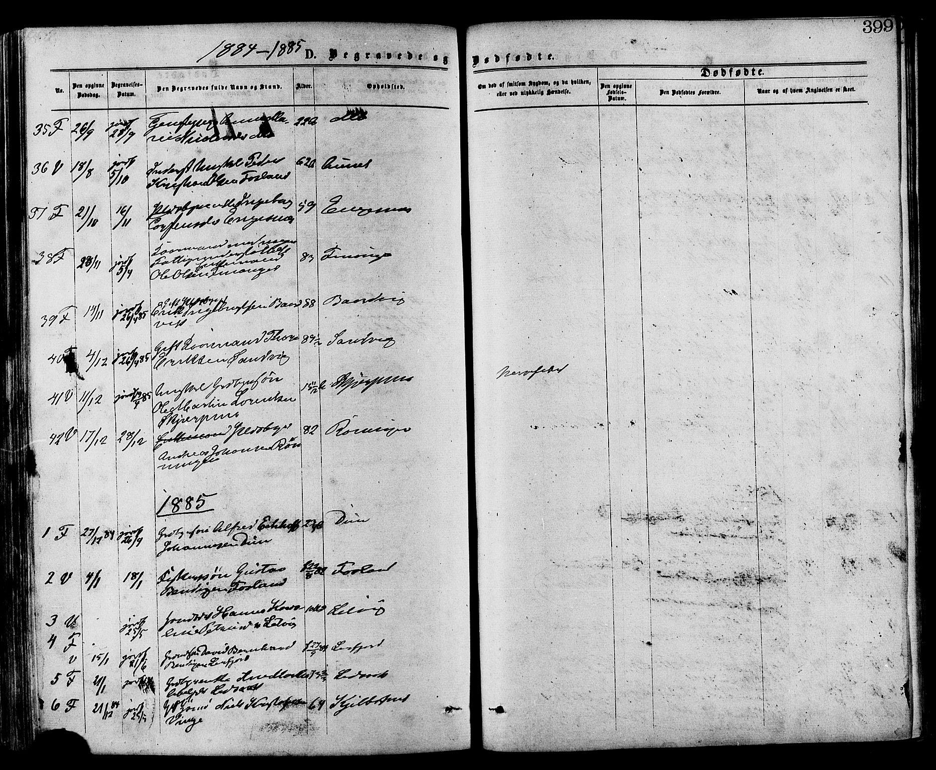 SAT, Ministerialprotokoller, klokkerbøker og fødselsregistre - Nord-Trøndelag, 773/L0616: Ministerialbok nr. 773A07, 1870-1887, s. 399
