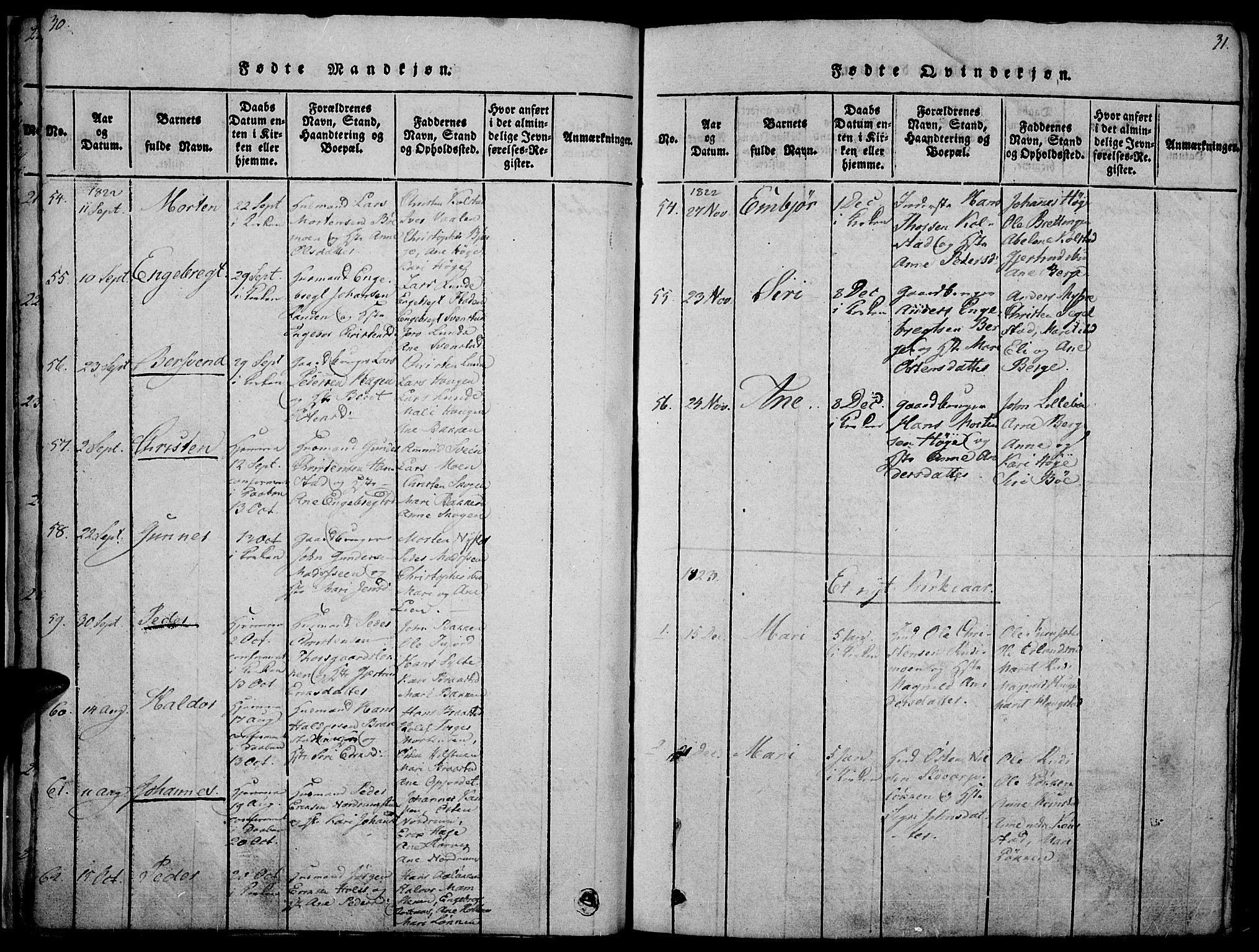 SAH, Ringebu prestekontor, Ministerialbok nr. 4, 1821-1839, s. 30-31