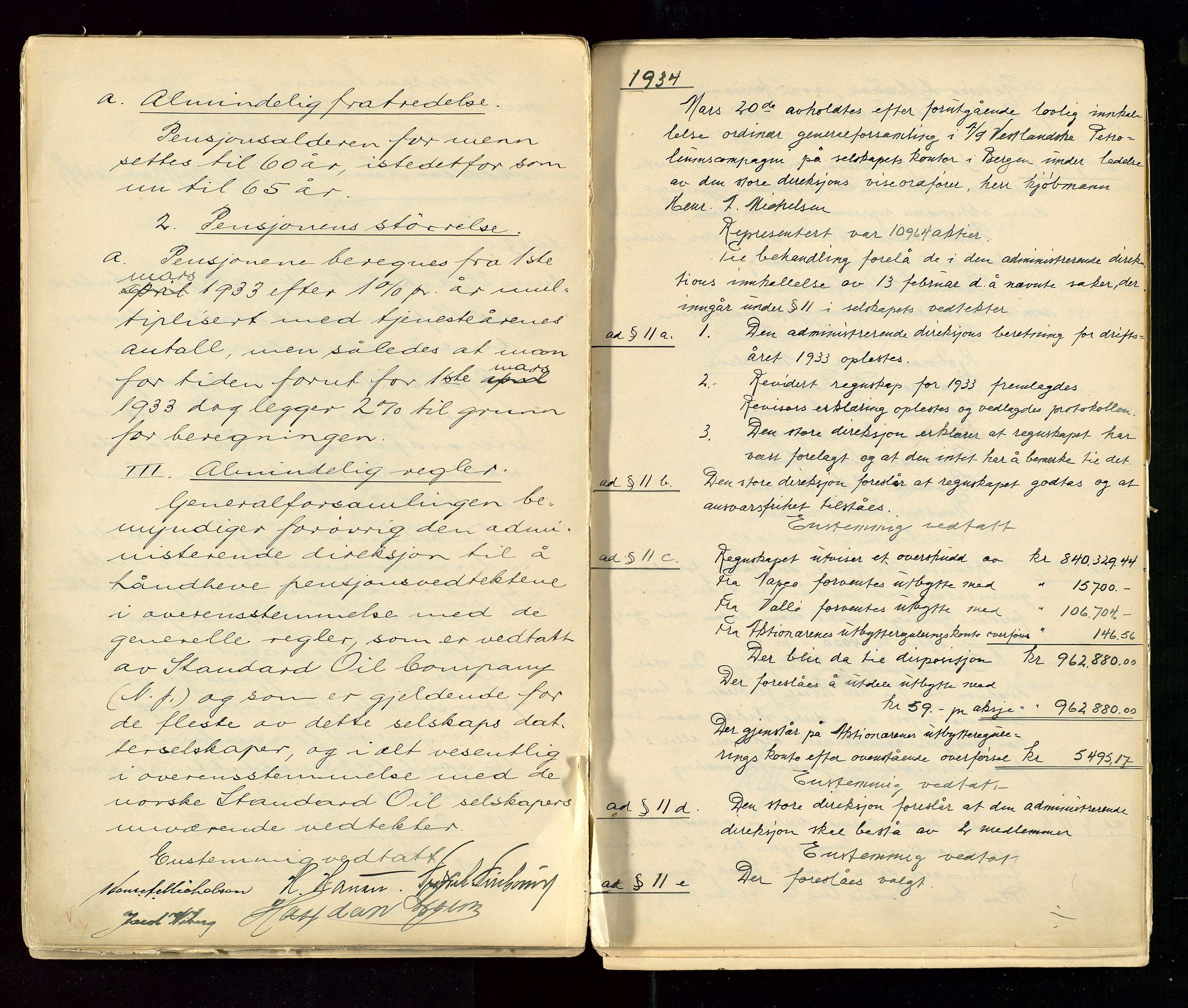SAST, PA 1533 - A/S Vestlandske Petroleumscompani, A/Aa/L0001: Generalforsamlinger og styreprotokoller, 1890-1953, s. 100
