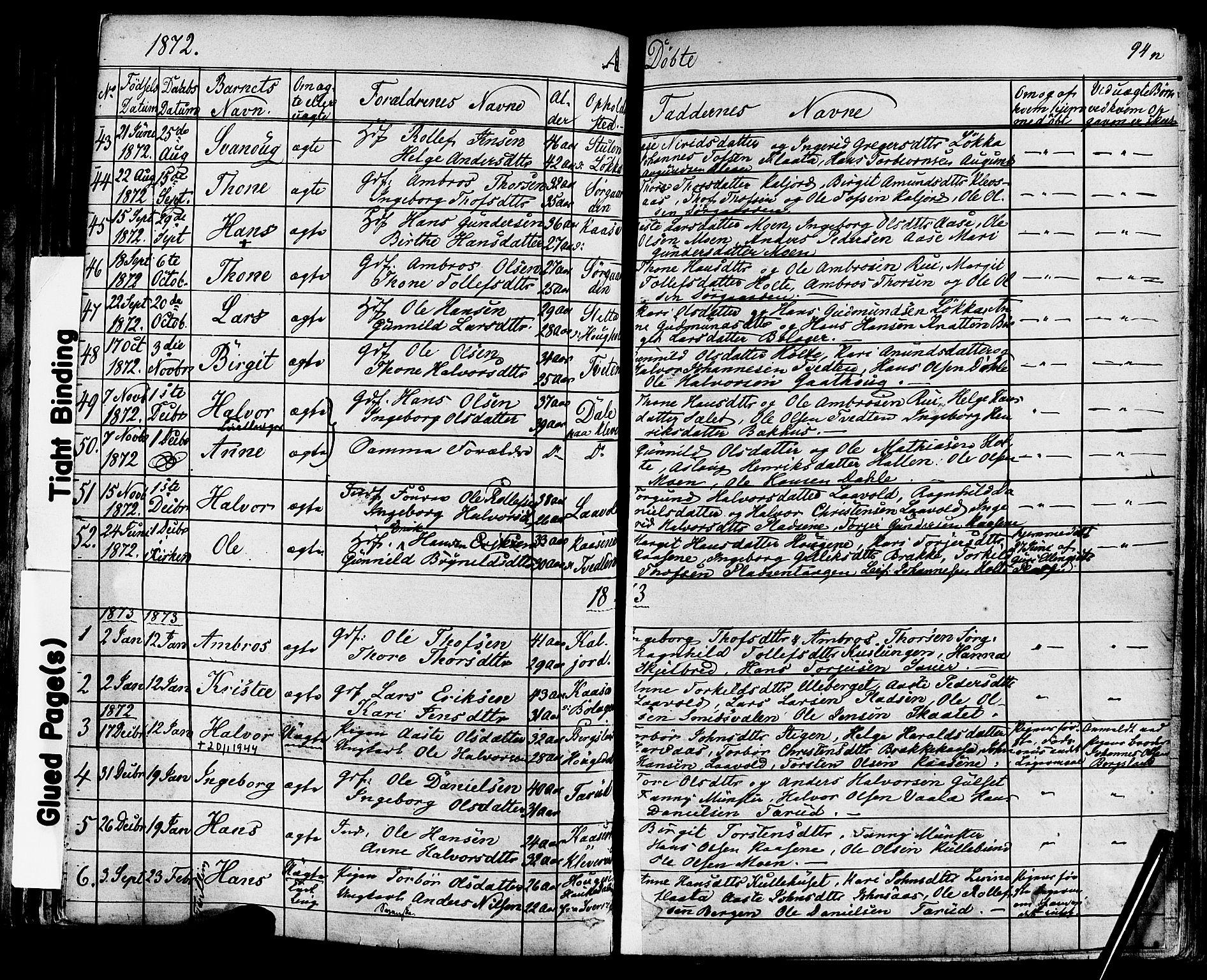 SAKO, Sauherad kirkebøker, F/Fa/L0007: Ministerialbok nr. I 7, 1851-1873