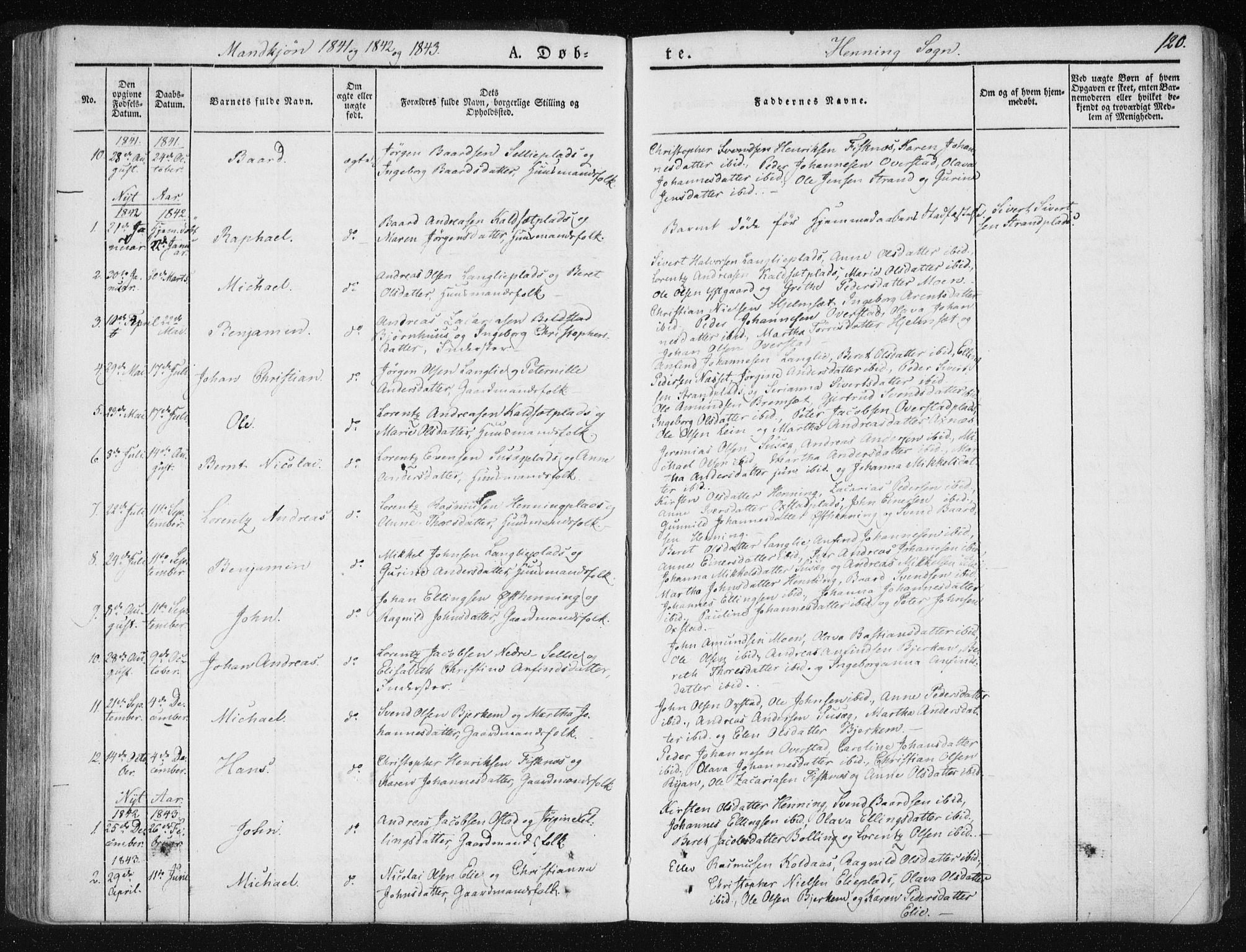 SAT, Ministerialprotokoller, klokkerbøker og fødselsregistre - Nord-Trøndelag, 735/L0339: Ministerialbok nr. 735A06 /3, 1836-1848, s. 120