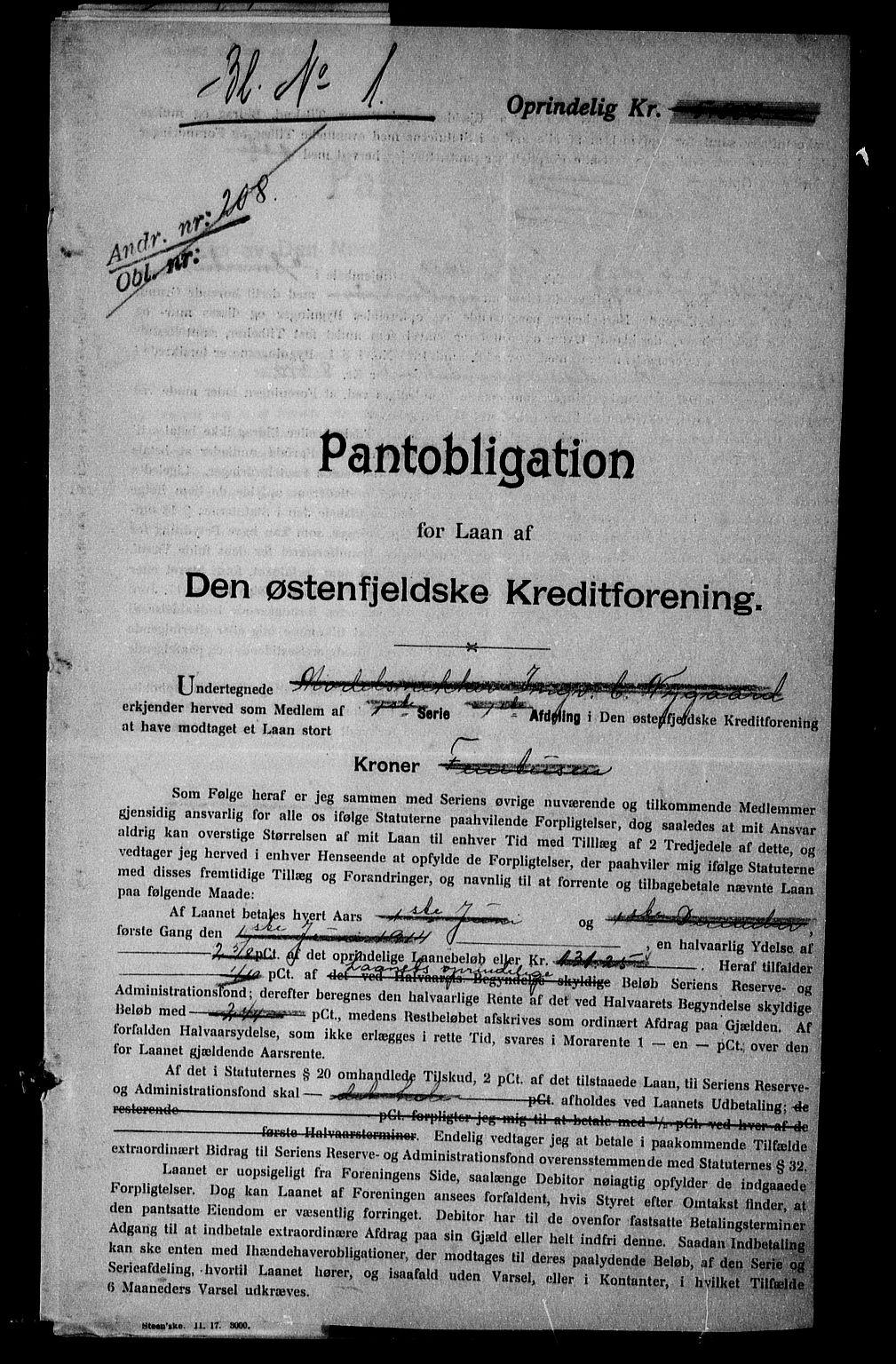 SAO, Onsøy sorenskriveri, G/Ga/Gaa/L0045: Pantebok nr. I 45, 1916-1917, s. 1
