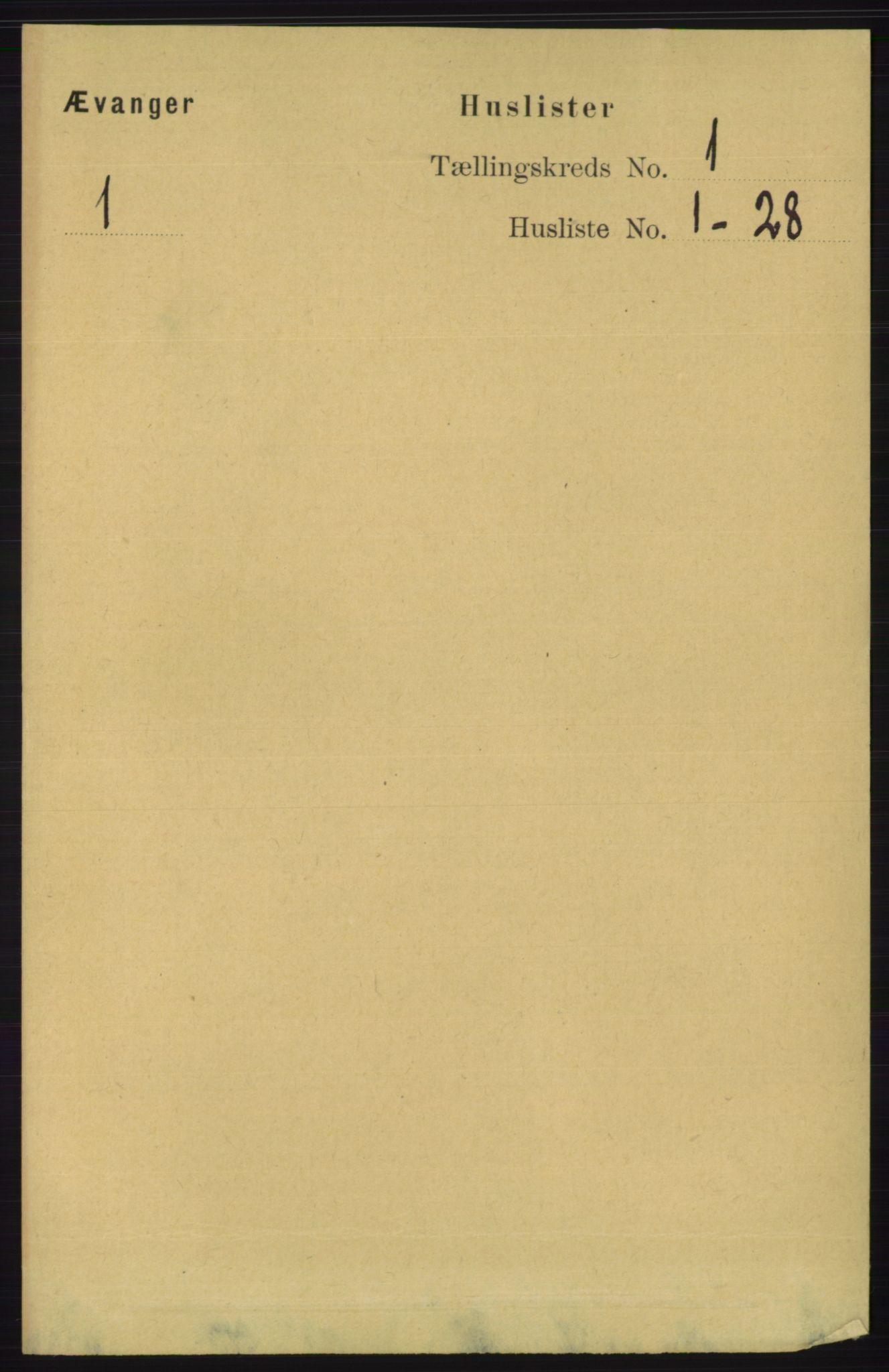 RA, Folketelling 1891 for 1237 Evanger herred, 1891, s. 24