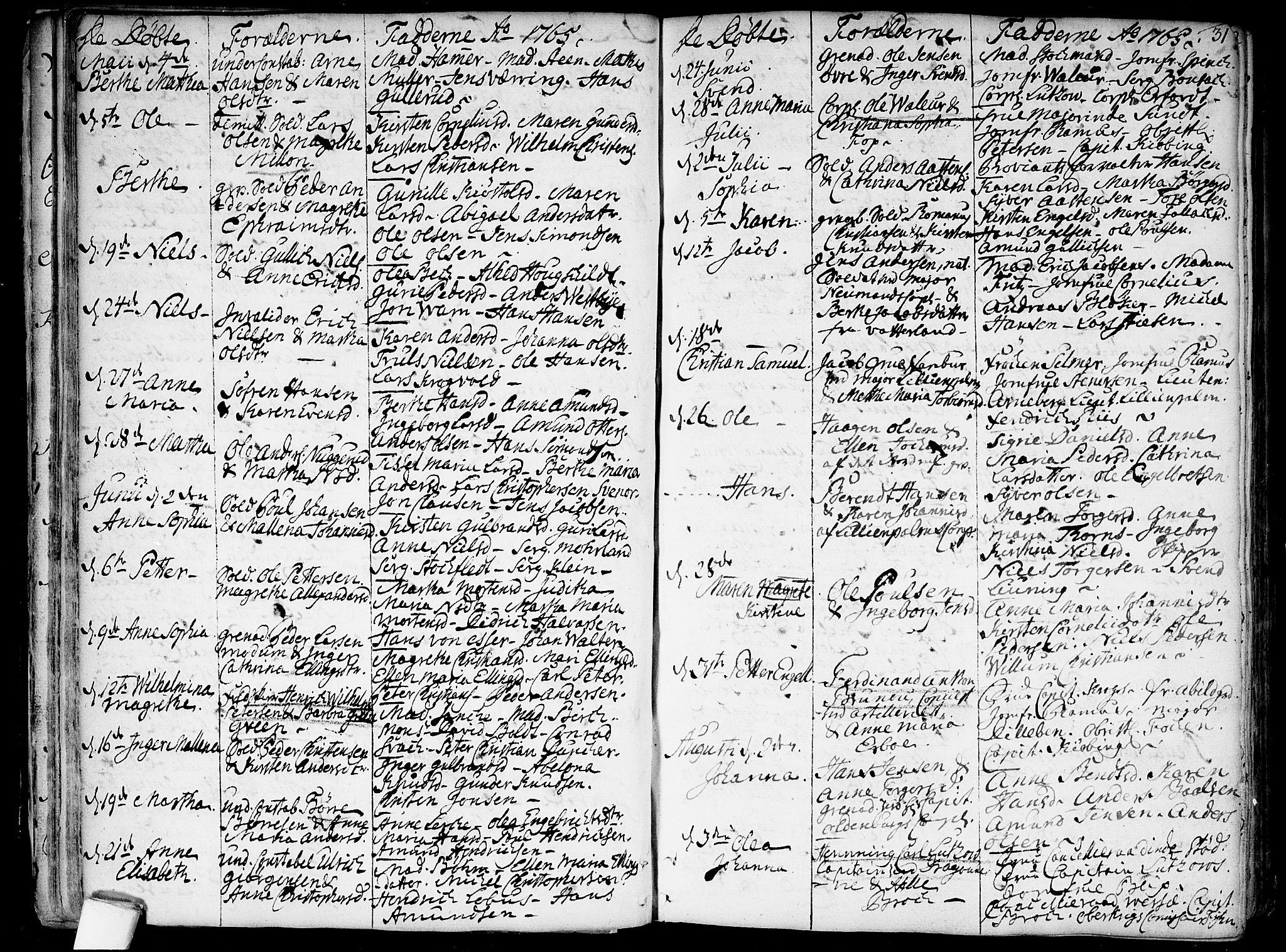 SAO, Garnisonsmenigheten Kirkebøker, F/Fa/L0002: Ministerialbok nr. 2, 1757-1776, s. 31