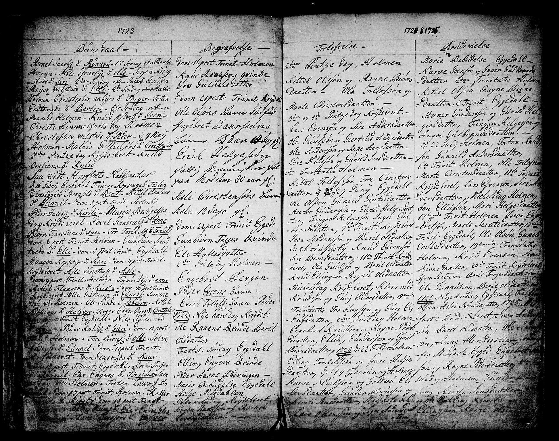 SAKO, Sigdal kirkebøker, F/Fa/L0001: Ministerialbok nr. I 1, 1722-1777, s. 7