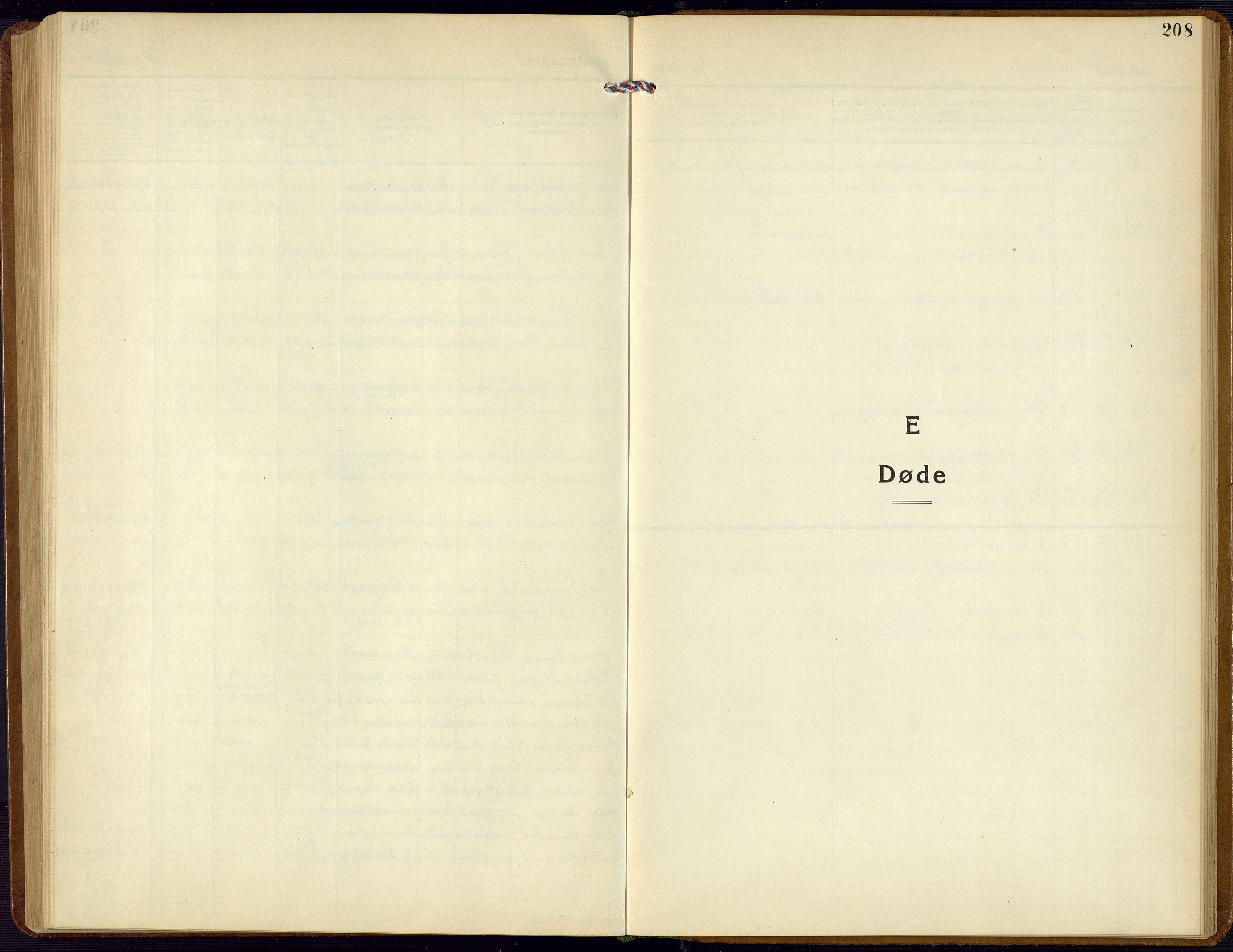SAK, Bjelland sokneprestkontor, F/Fb/Fba/L0006: Klokkerbok nr. B 6, 1923-1956, s. 208