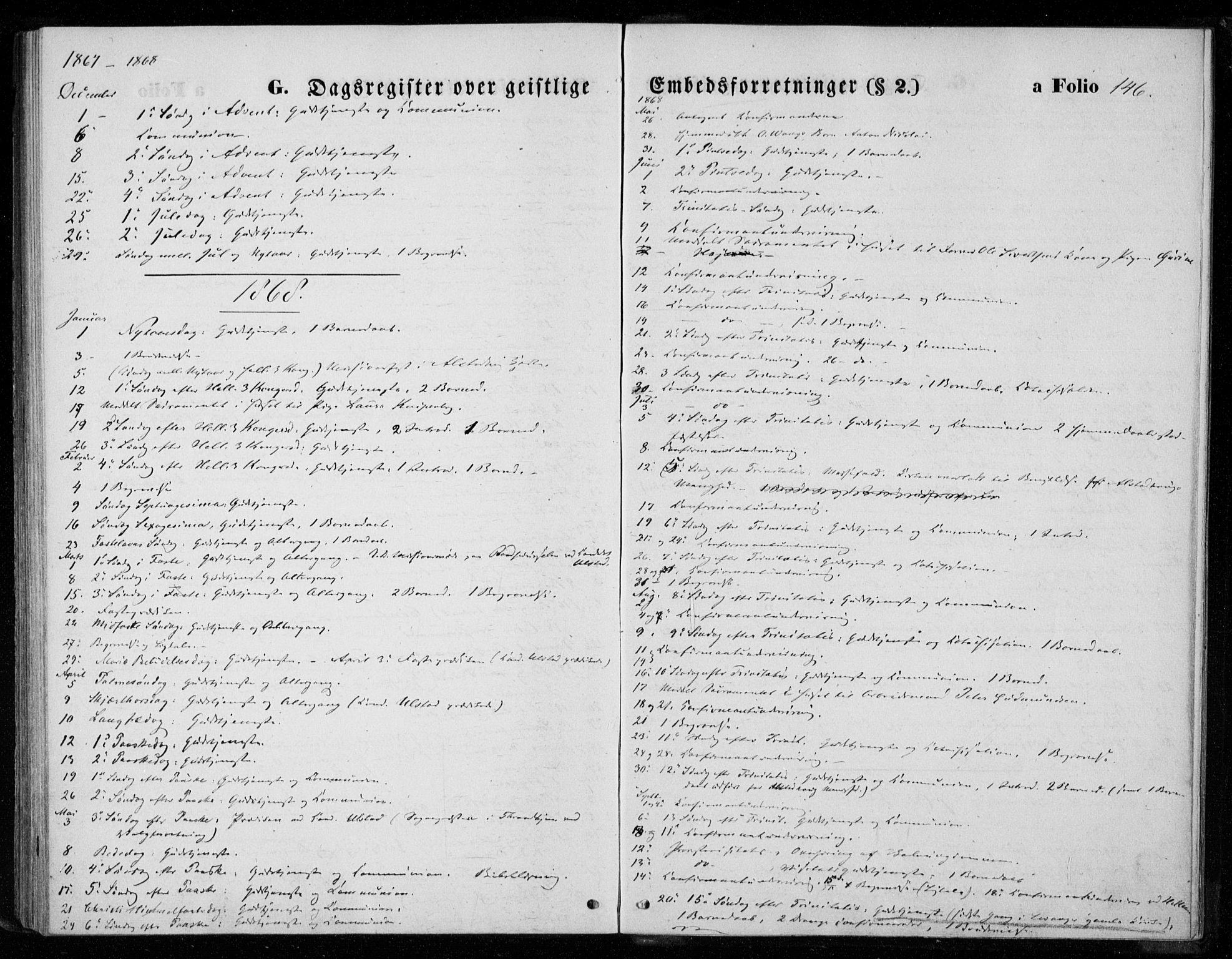 SAT, Ministerialprotokoller, klokkerbøker og fødselsregistre - Nord-Trøndelag, 720/L0186: Ministerialbok nr. 720A03, 1864-1874, s. 146