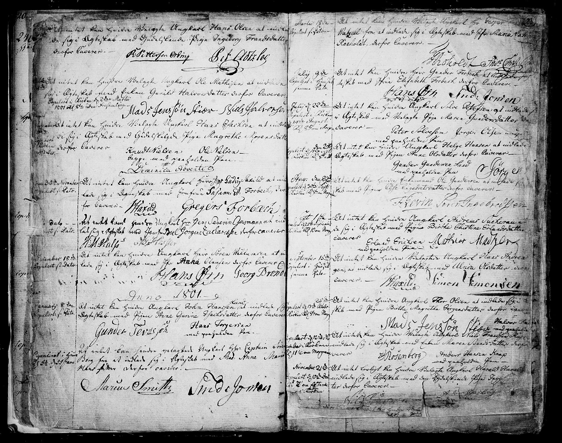 SAKO, Skien kirkebøker, F/Fa/L0004: Ministerialbok nr. 4, 1792-1814, s. 22-23