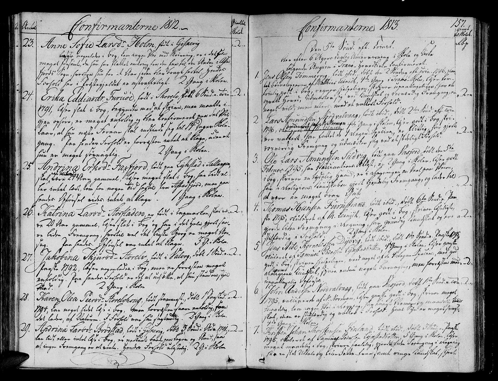 SATØ, Tranøy sokneprestkontor, I/Ia/Iaa/L0003kirke: Ministerialbok nr. 3, 1807-1820, s. 157