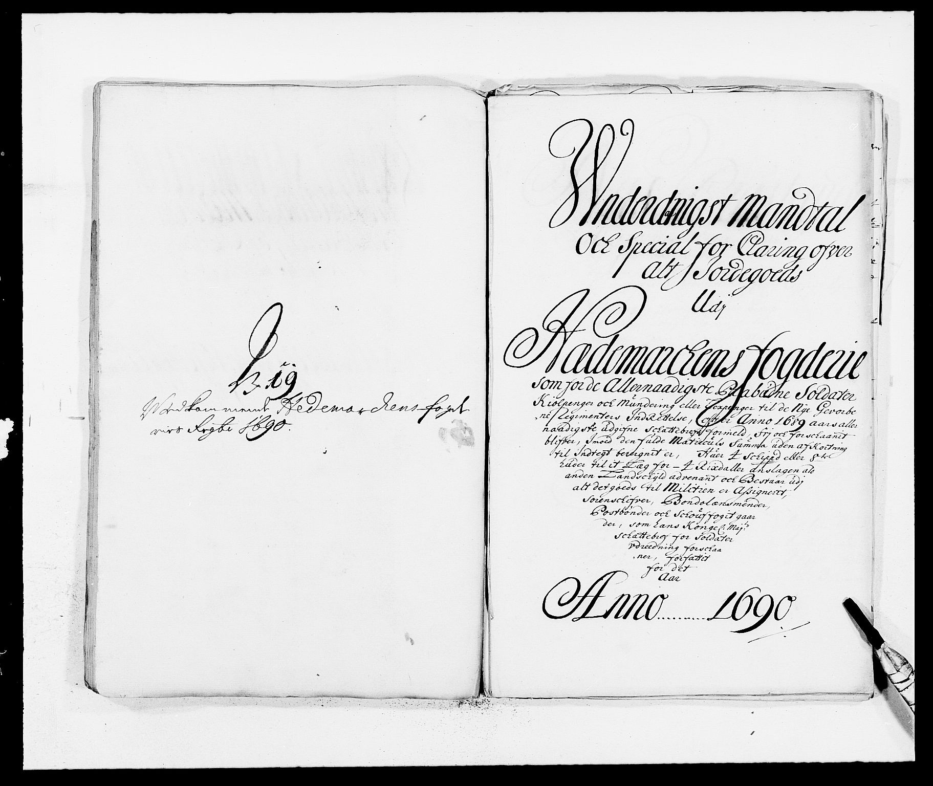 RA, Rentekammeret inntil 1814, Reviderte regnskaper, Fogderegnskap, R16/L1031: Fogderegnskap Hedmark, 1689-1692, s. 288