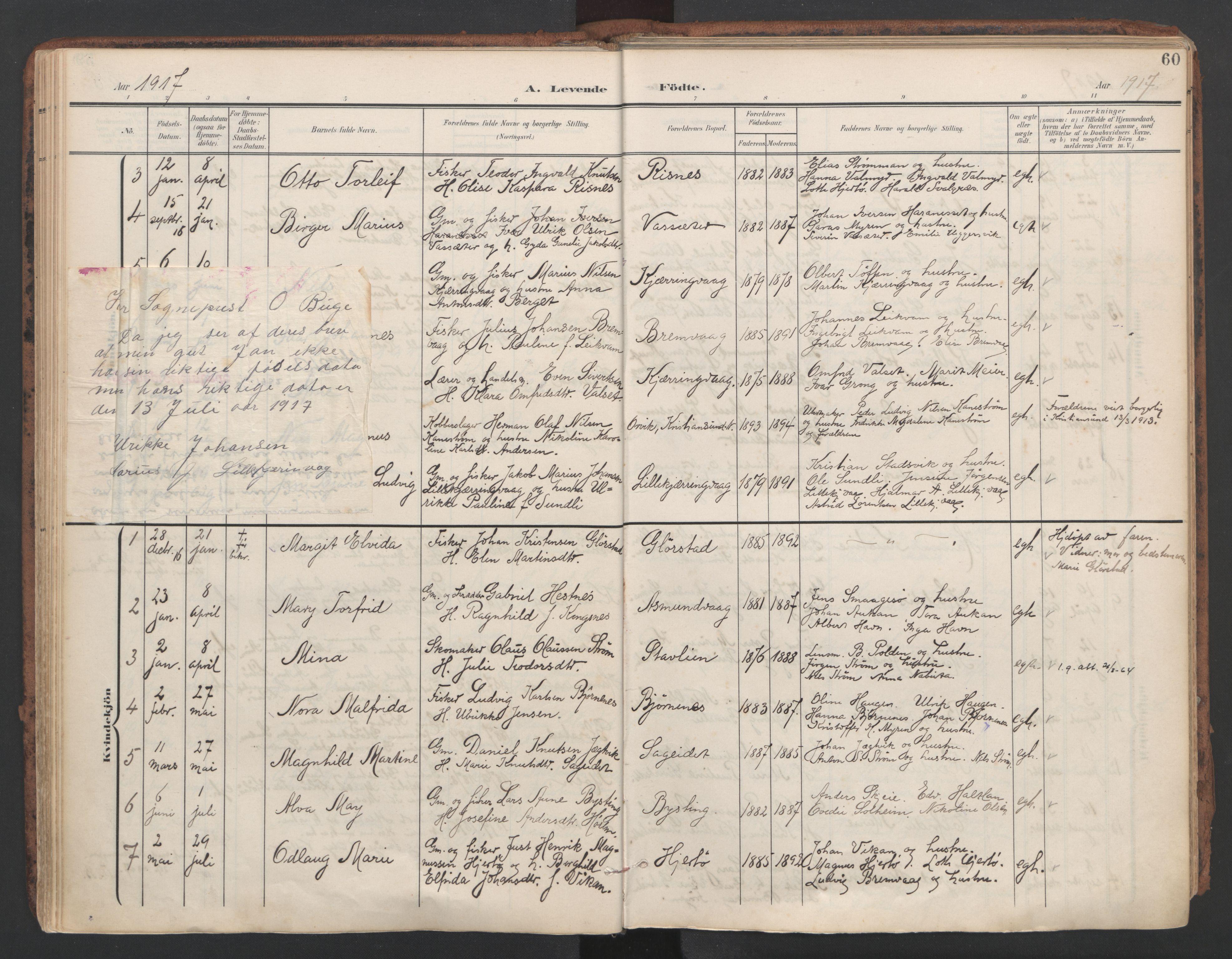 SAT, Ministerialprotokoller, klokkerbøker og fødselsregistre - Sør-Trøndelag, 634/L0537: Ministerialbok nr. 634A13, 1896-1922, s. 60
