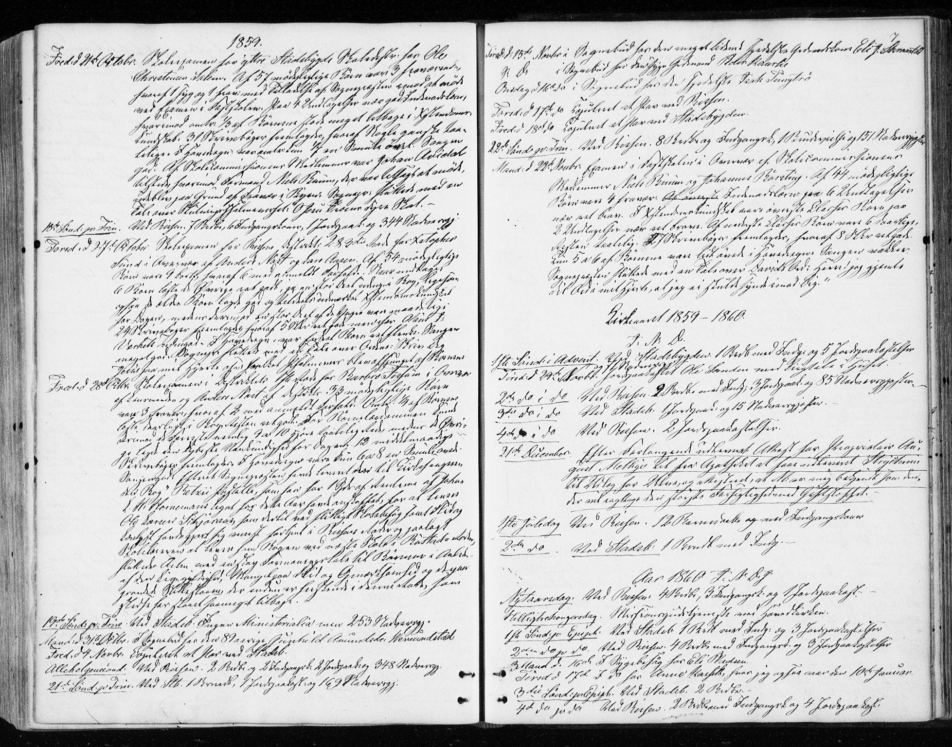 SAT, Ministerialprotokoller, klokkerbøker og fødselsregistre - Sør-Trøndelag, 646/L0612: Ministerialbok nr. 646A10, 1858-1869, s. 7