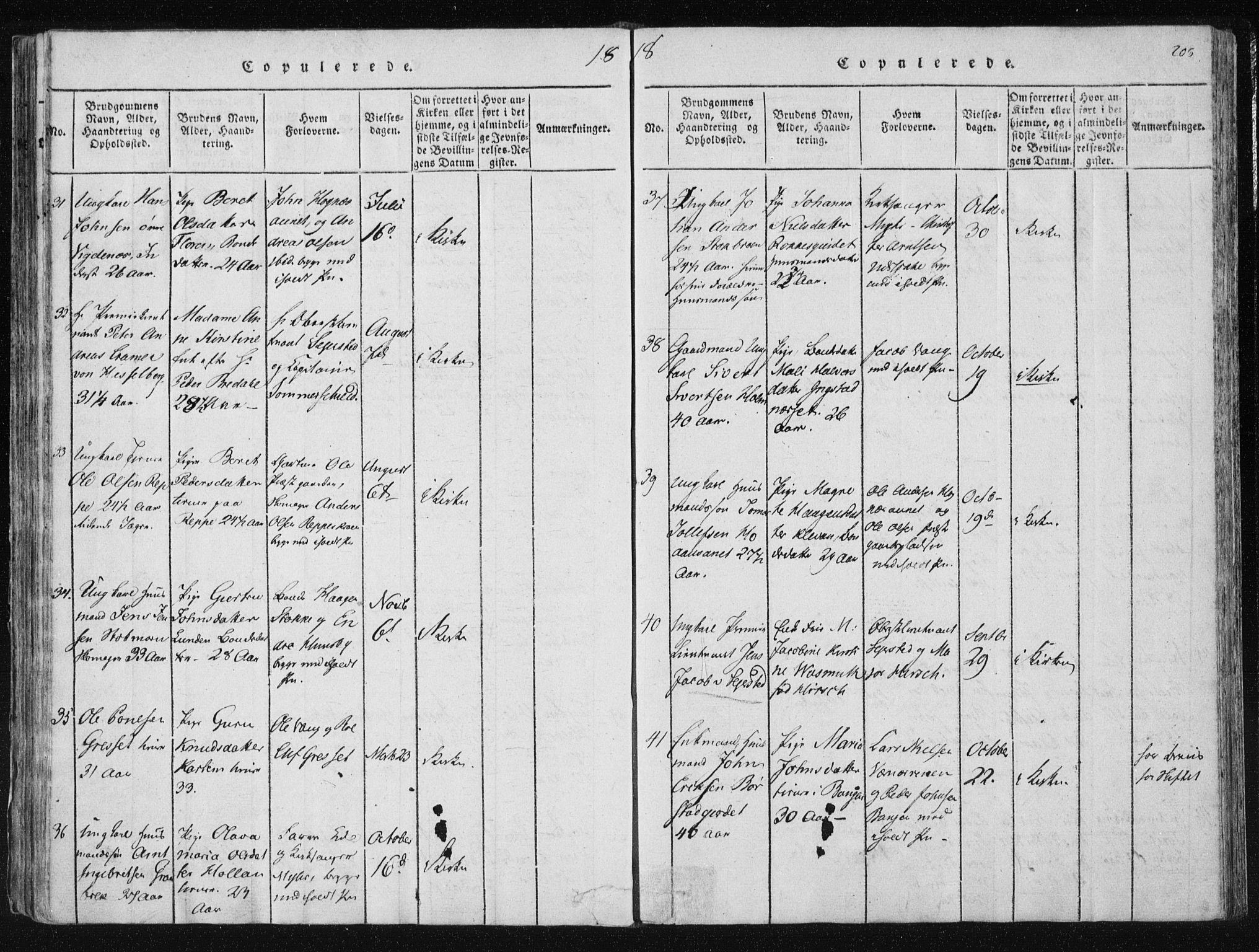 SAT, Ministerialprotokoller, klokkerbøker og fødselsregistre - Nord-Trøndelag, 709/L0061: Ministerialbok nr. 709A08 /1, 1815-1819, s. 208