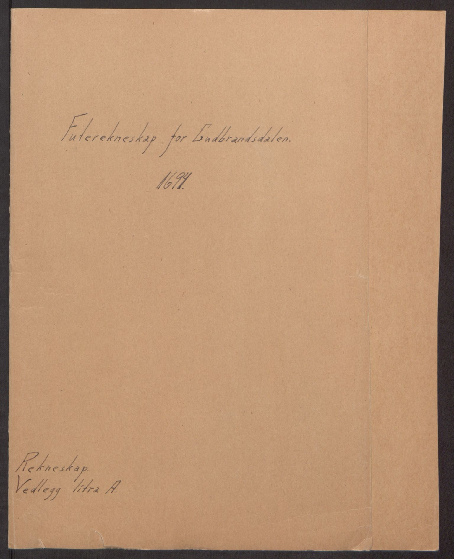 RA, Rentekammeret inntil 1814, Reviderte regnskaper, Fogderegnskap, R17/L1168: Fogderegnskap Gudbrandsdal, 1694, s. 2