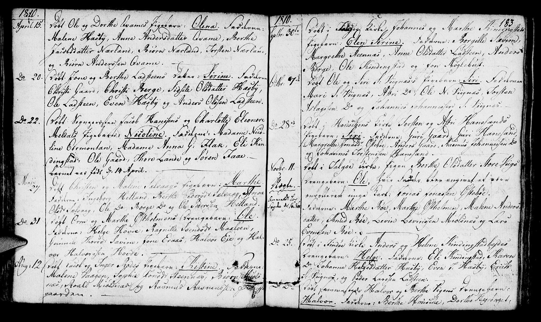 SAST, Finnøy sokneprestkontor, H/Ha/Haa/L0005: Ministerialbok nr. A 5, 1773-1816, s. 183