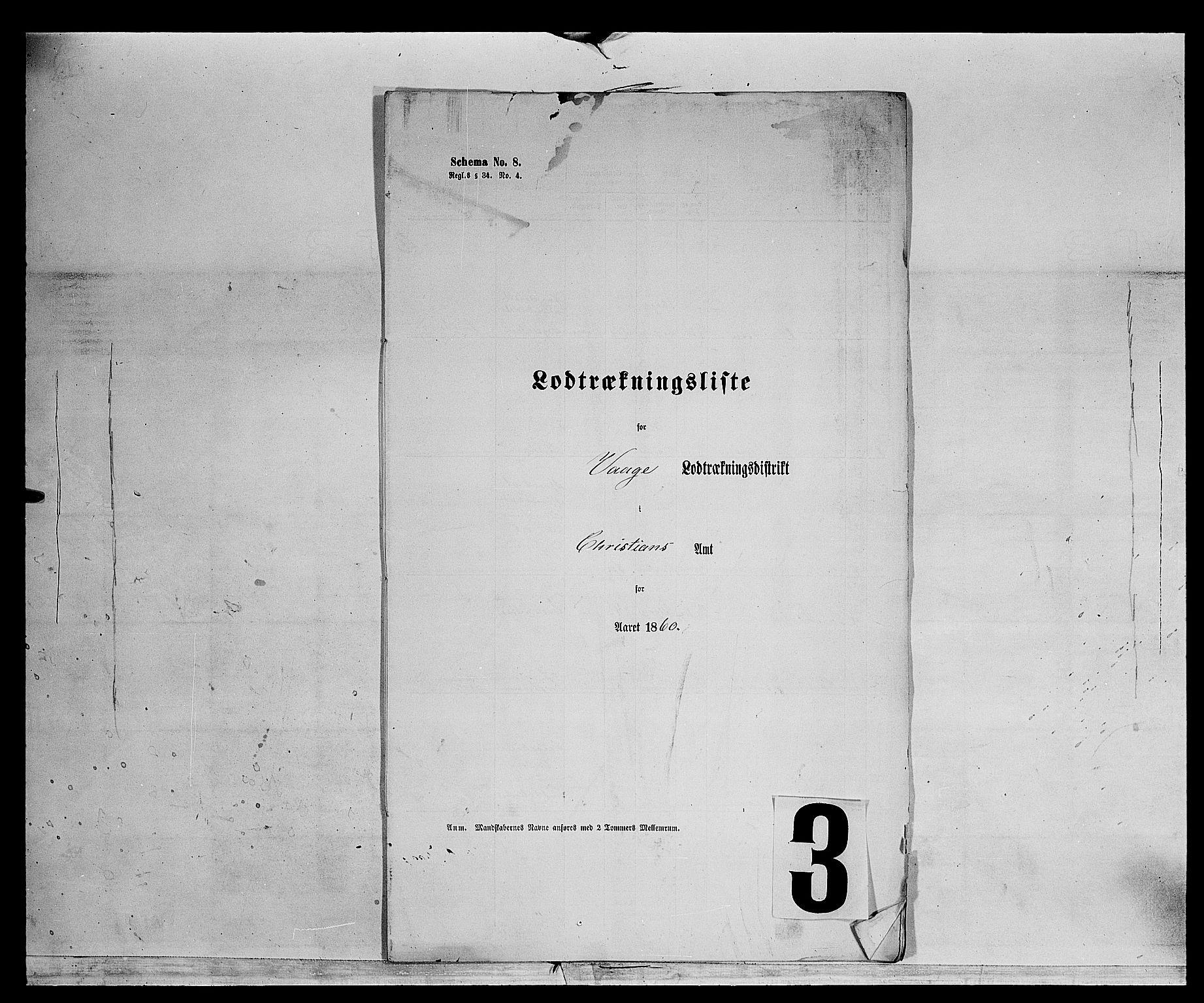 SAH, Fylkesmannen i Oppland, K/Kg/L1174: Fron, Nordre og Søndre Fron, Vågå, 1860-1879, s. 4899