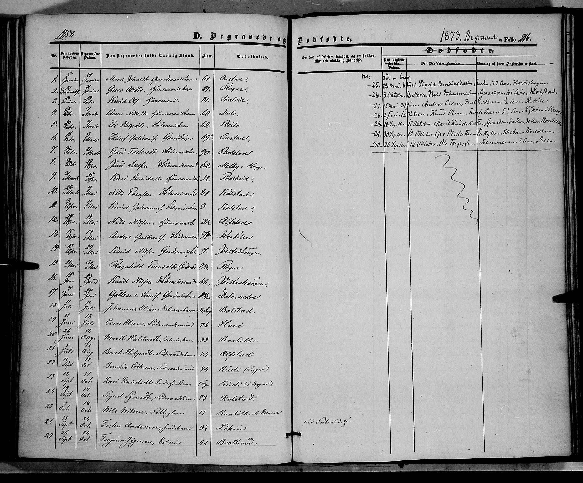 SAH, Øystre Slidre prestekontor, Ministerialbok nr. 1, 1849-1874, s. 216